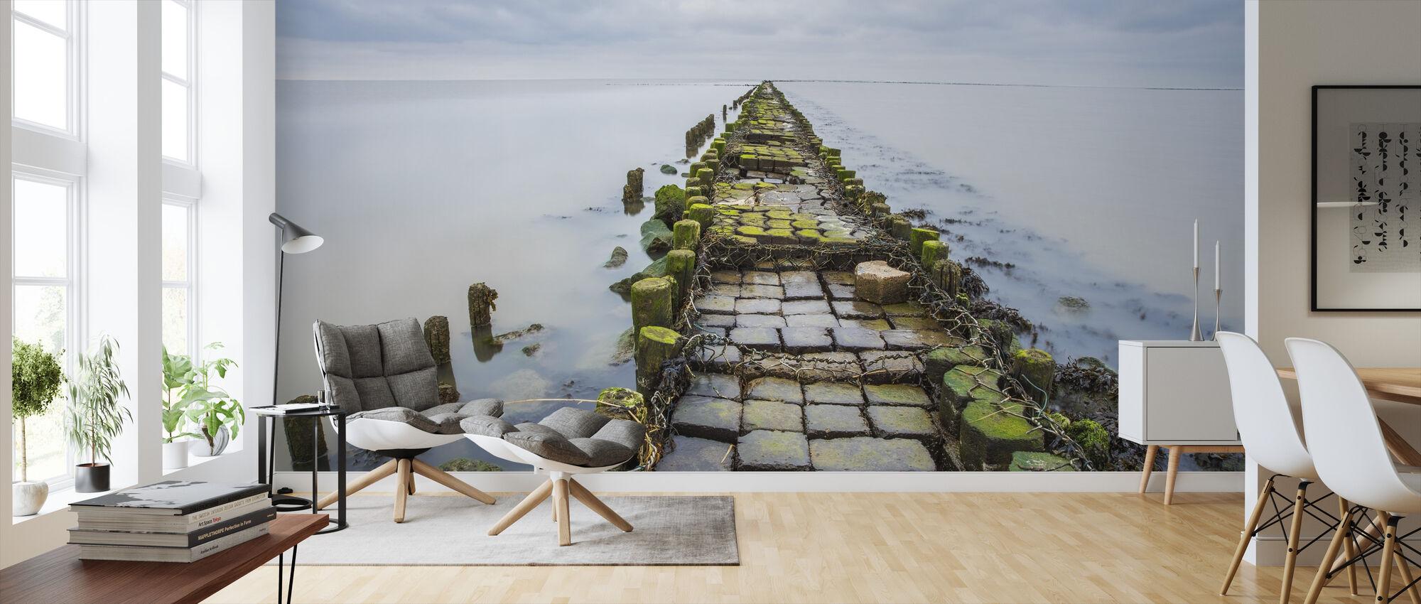 Stone Pathway - Wallpaper - Living Room