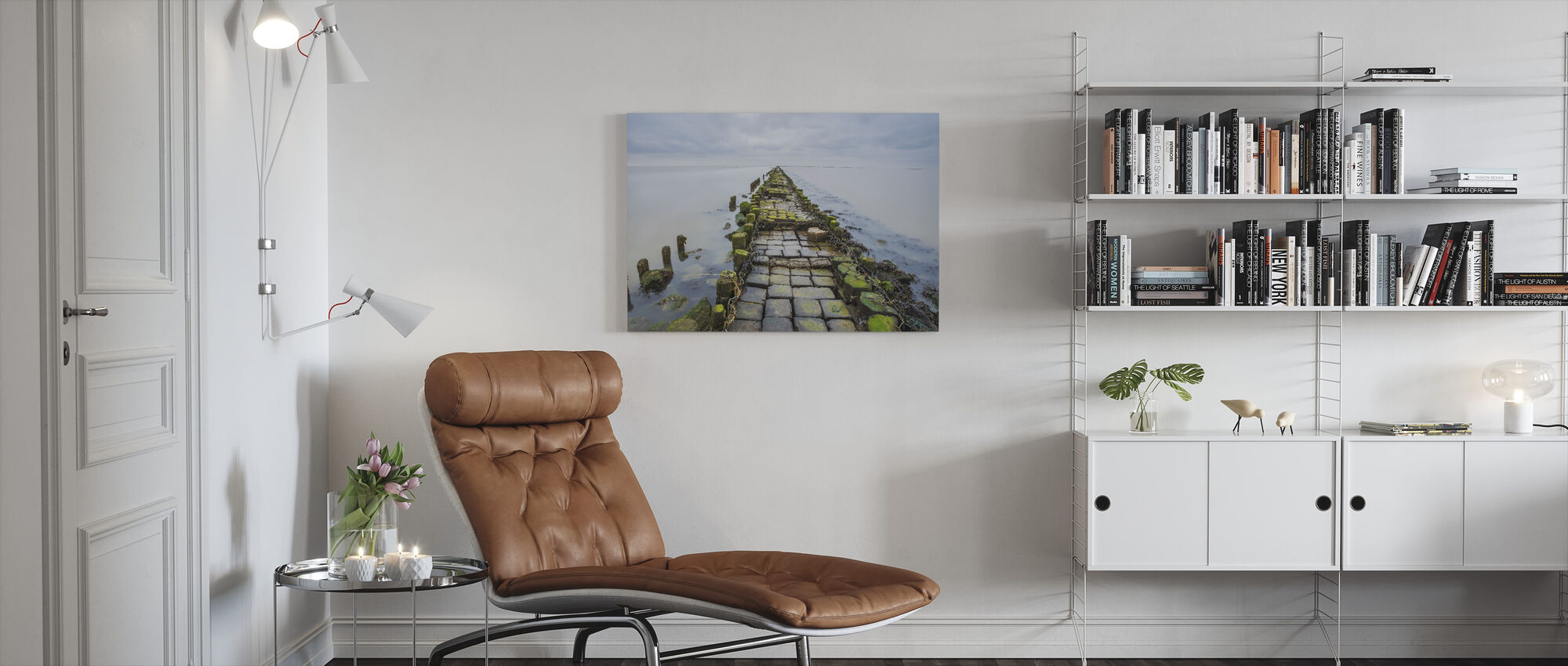 Stone Pathway - Canvas print - Living Room
