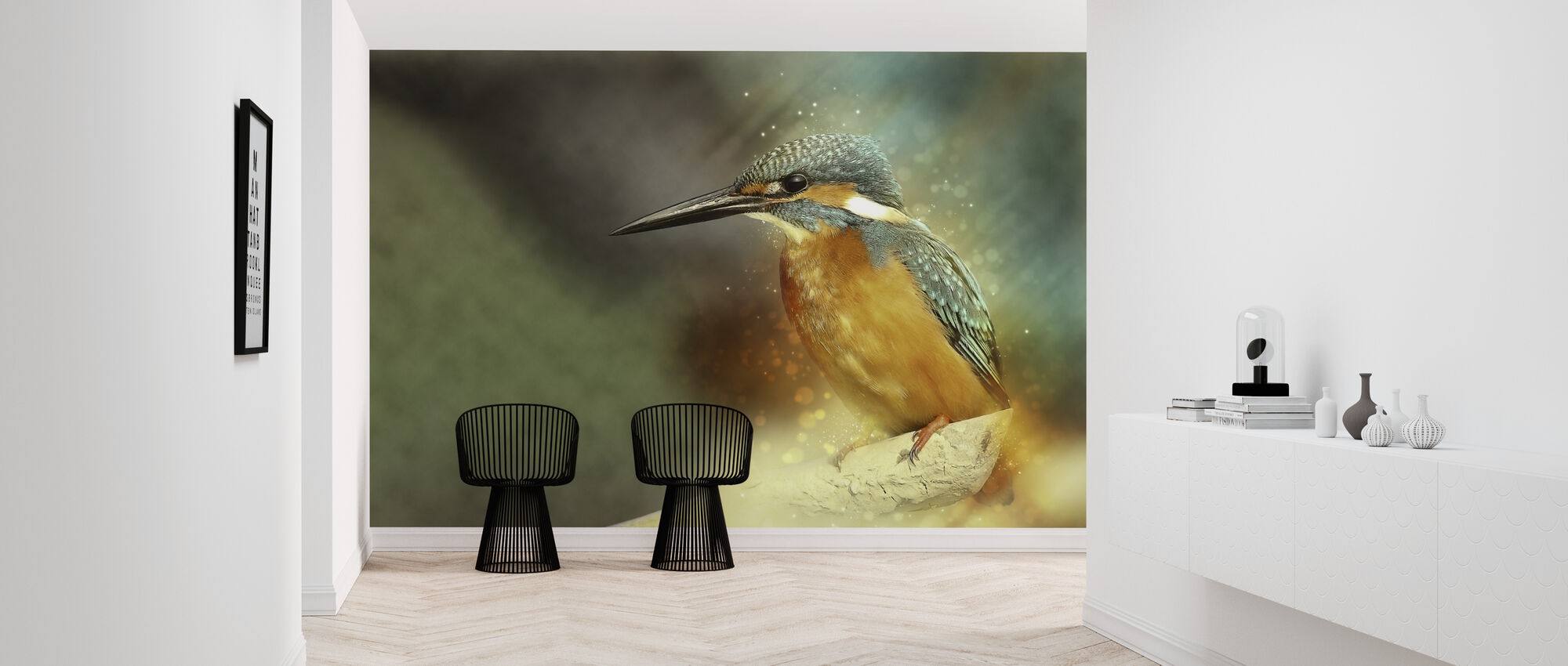 Perched Kingfisher - Wallpaper - Hallway