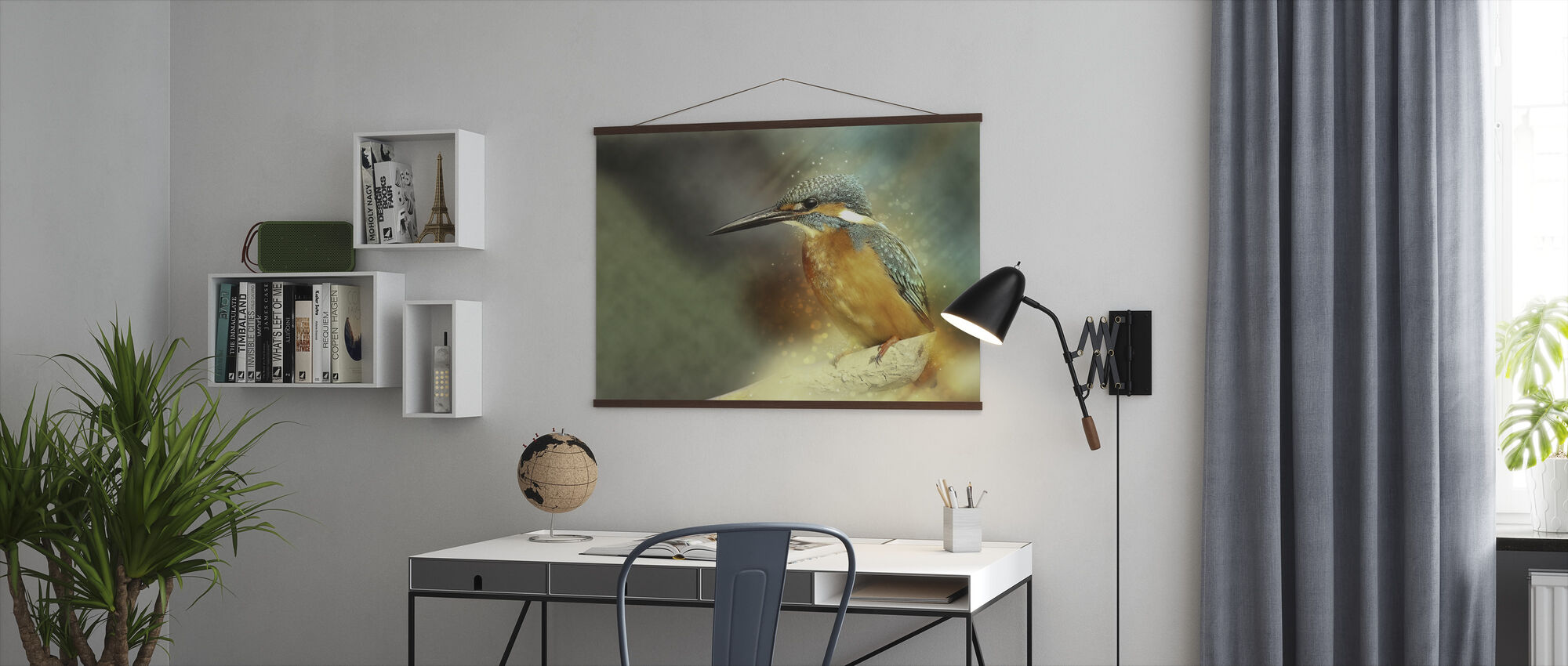Perched Kingfisher - Poster - Office