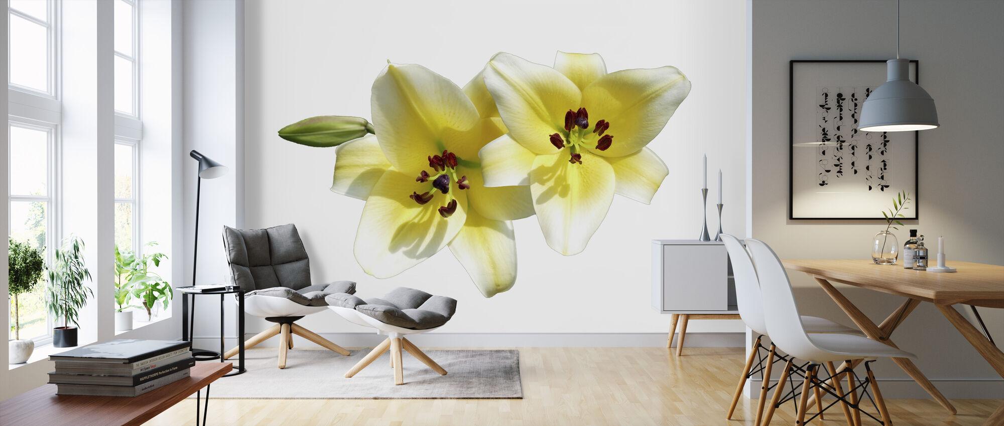 Lilies Flower - Wallpaper - Living Room