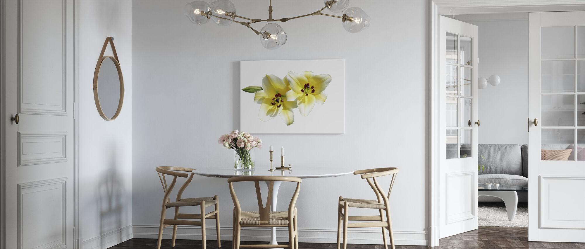 Lilies Flower - Canvas print - Kitchen