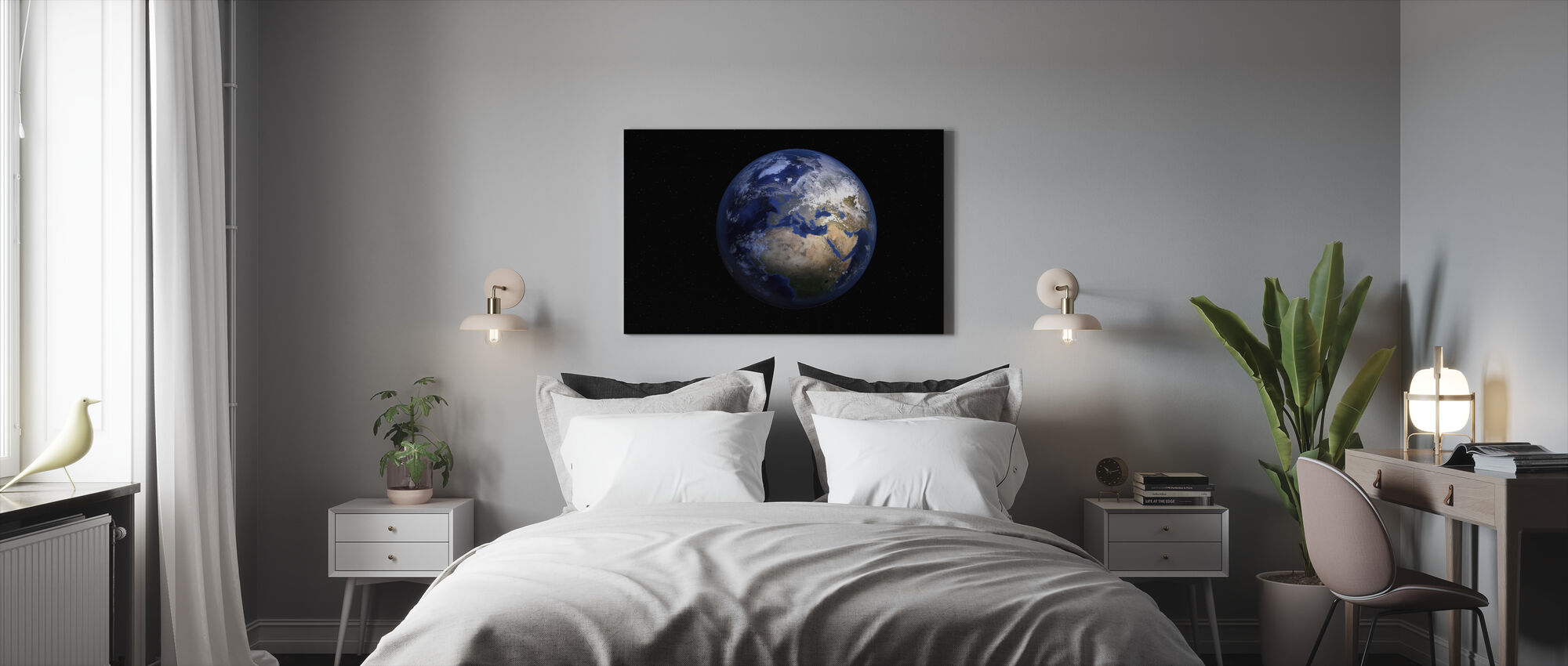 Planet Earth - Canvas print - Bedroom