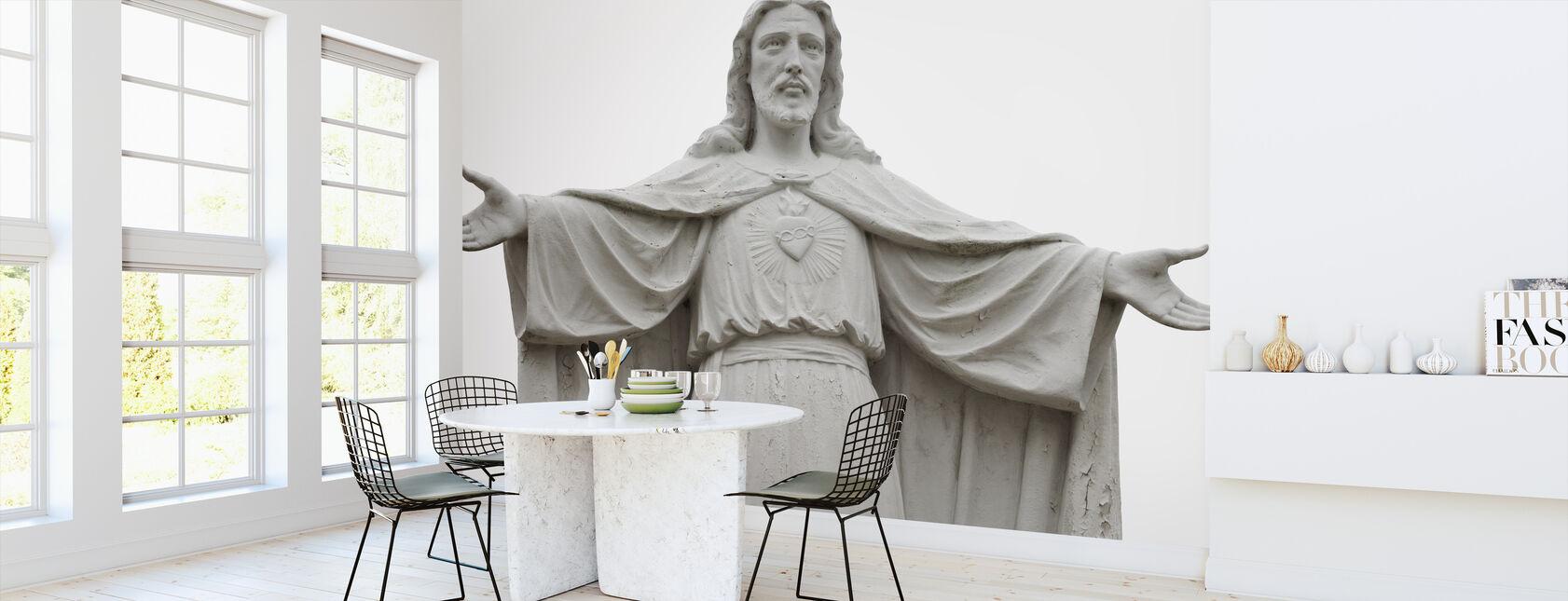 Jesus Statue - Wallpaper - Kitchen
