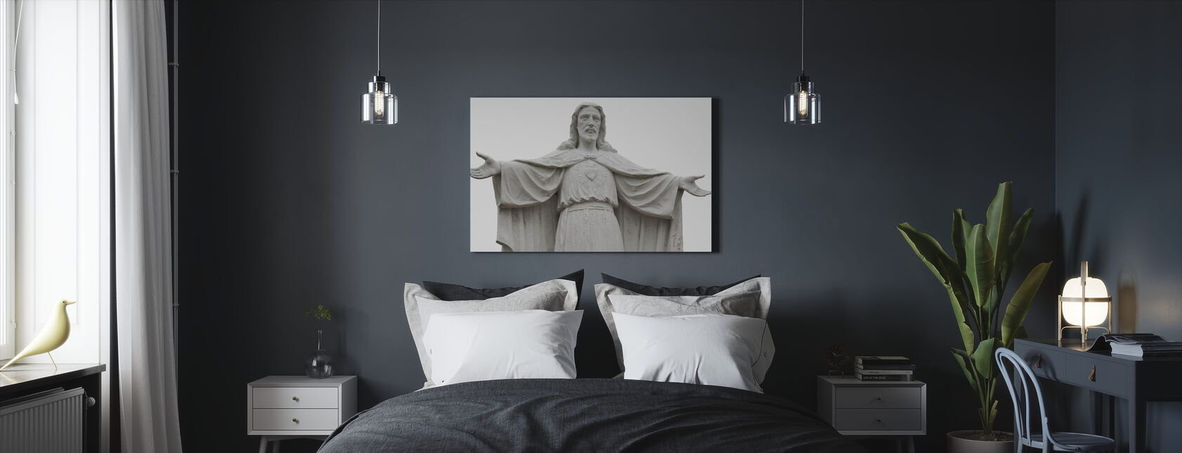 Jesus Statue - Canvas print - Bedroom