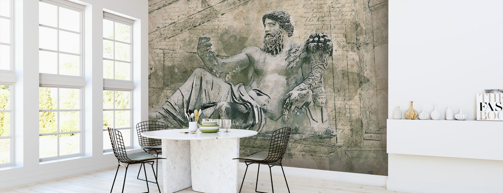 Rome Vintage Statue - Wallpaper - Kitchen