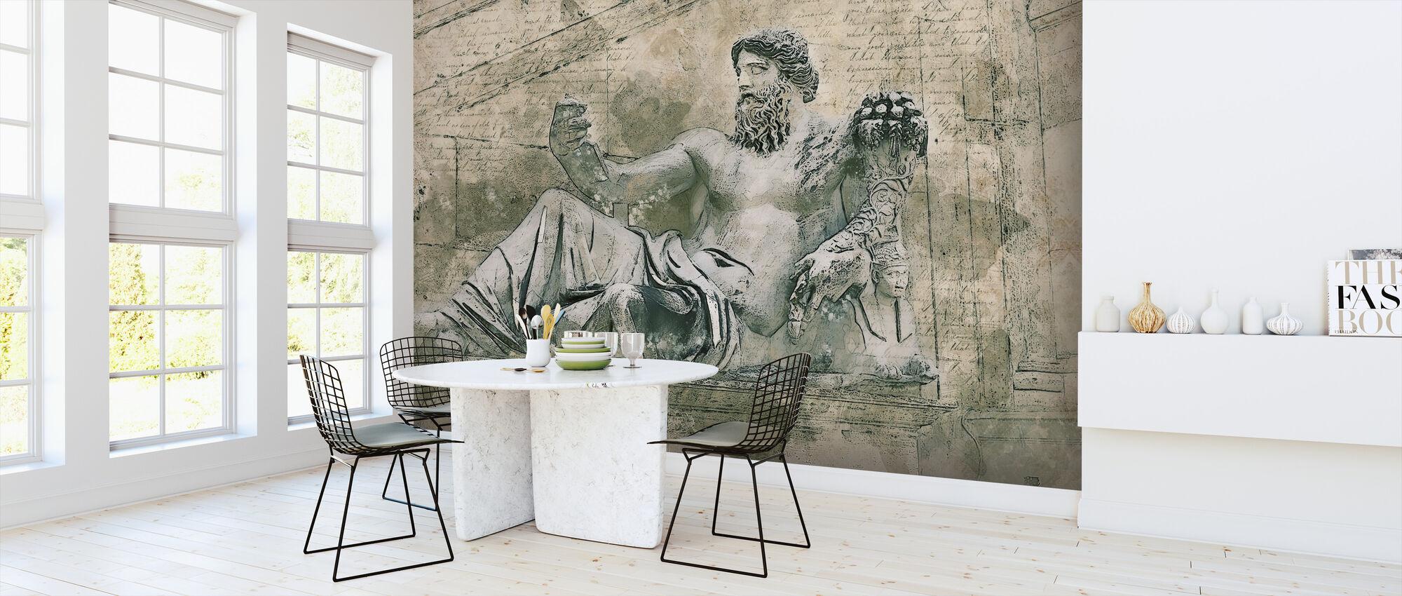 Rome Vintage Statue - Wallpaper - Kitchen