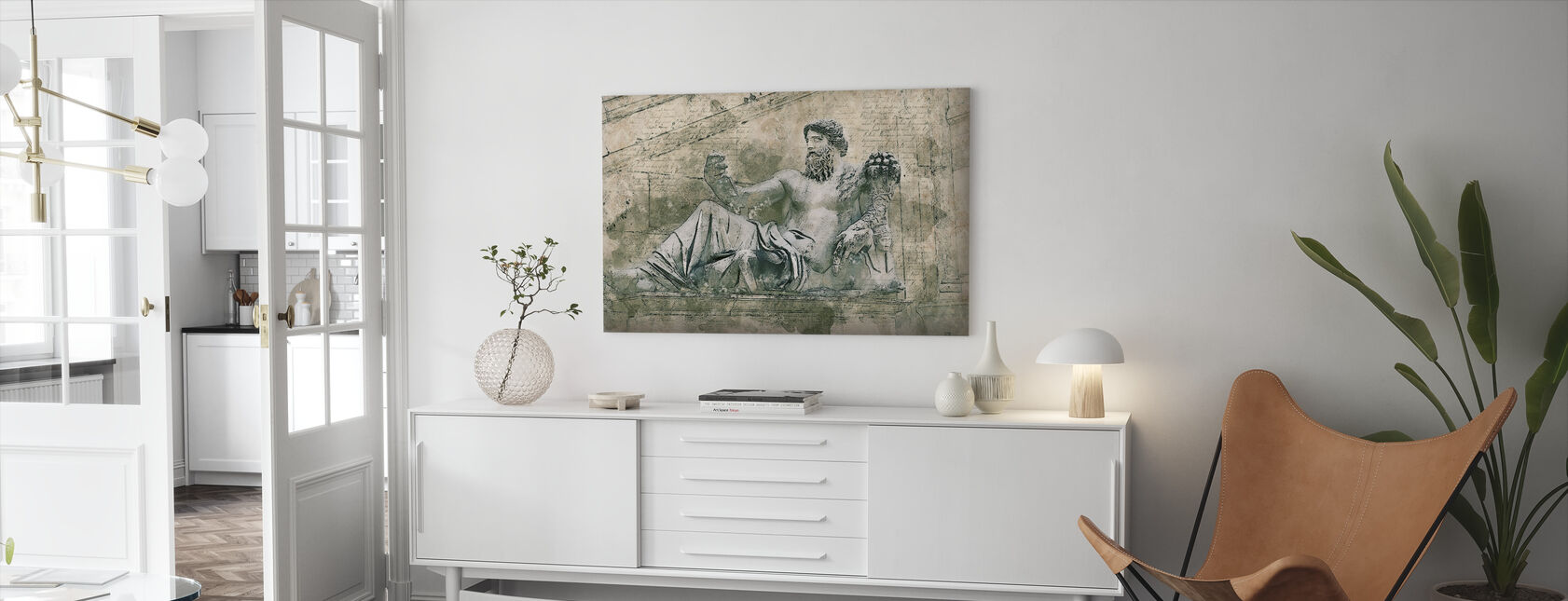 Rome Vintage Statue - Canvas print - Living Room