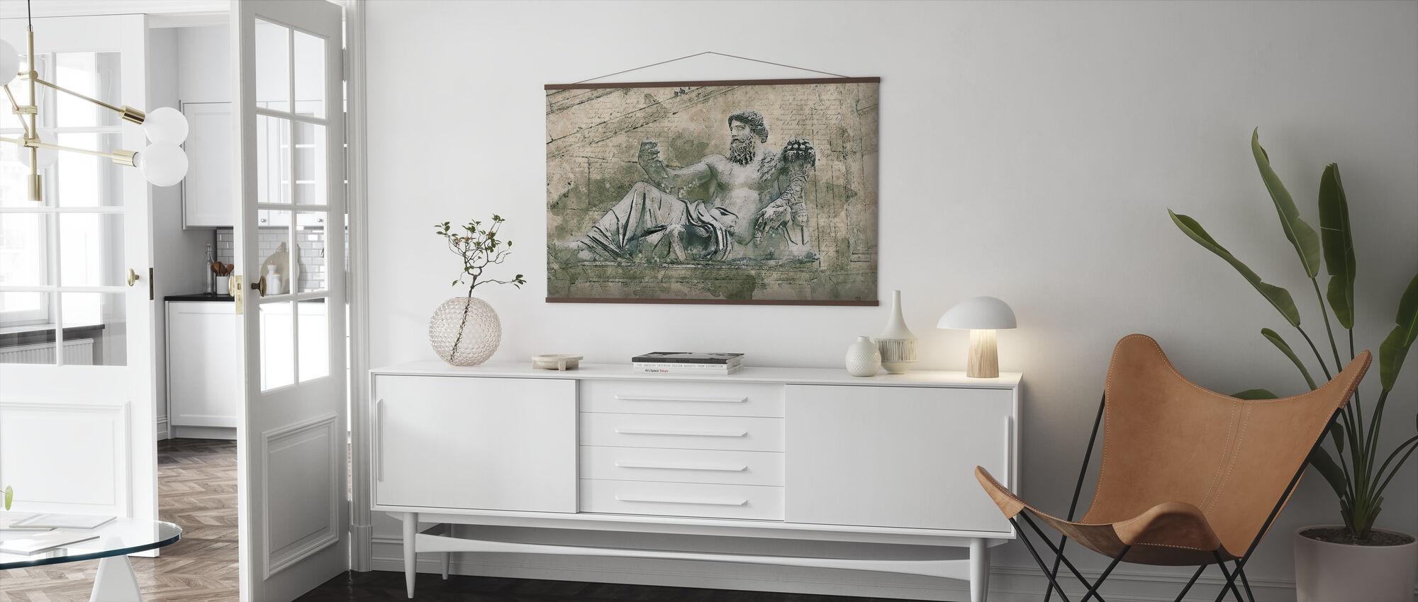Rome Vintage Statue - Poster - Living Room