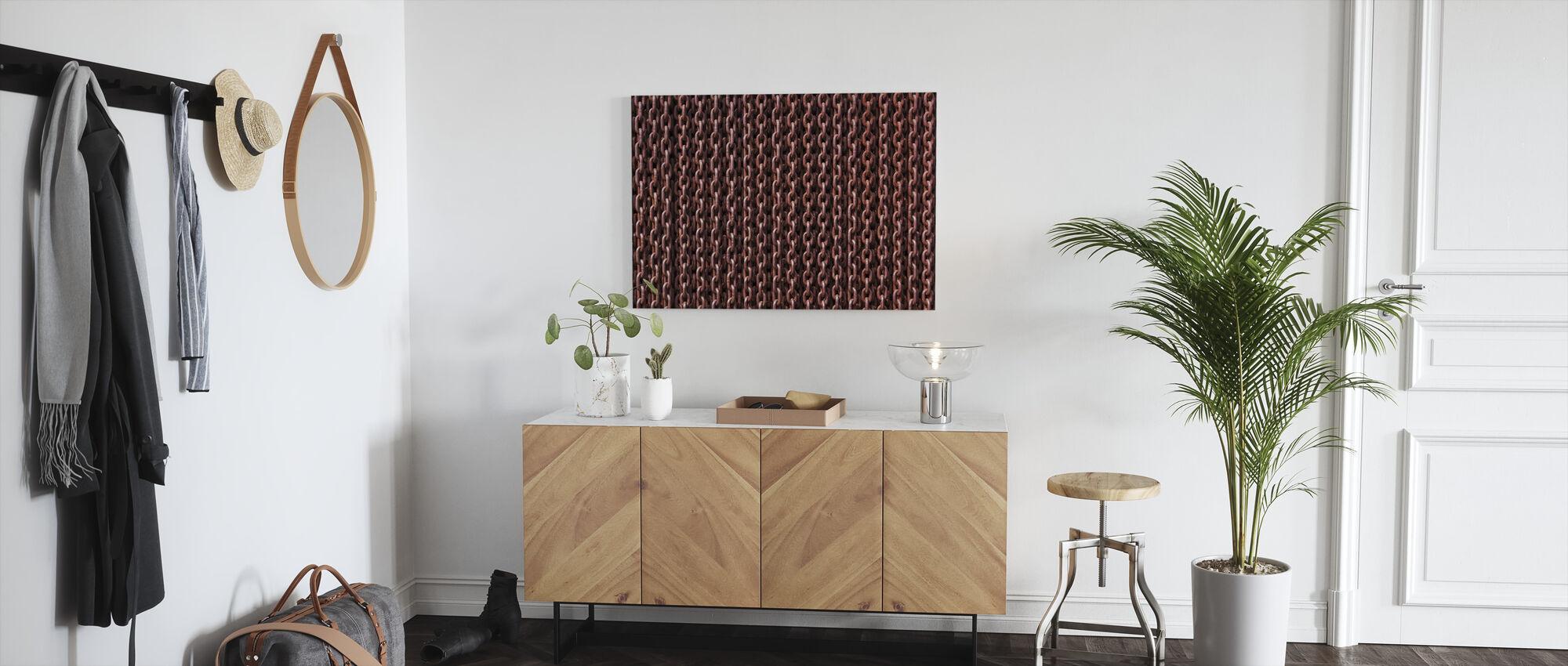 Rusty Chains - Canvas print - Hallway