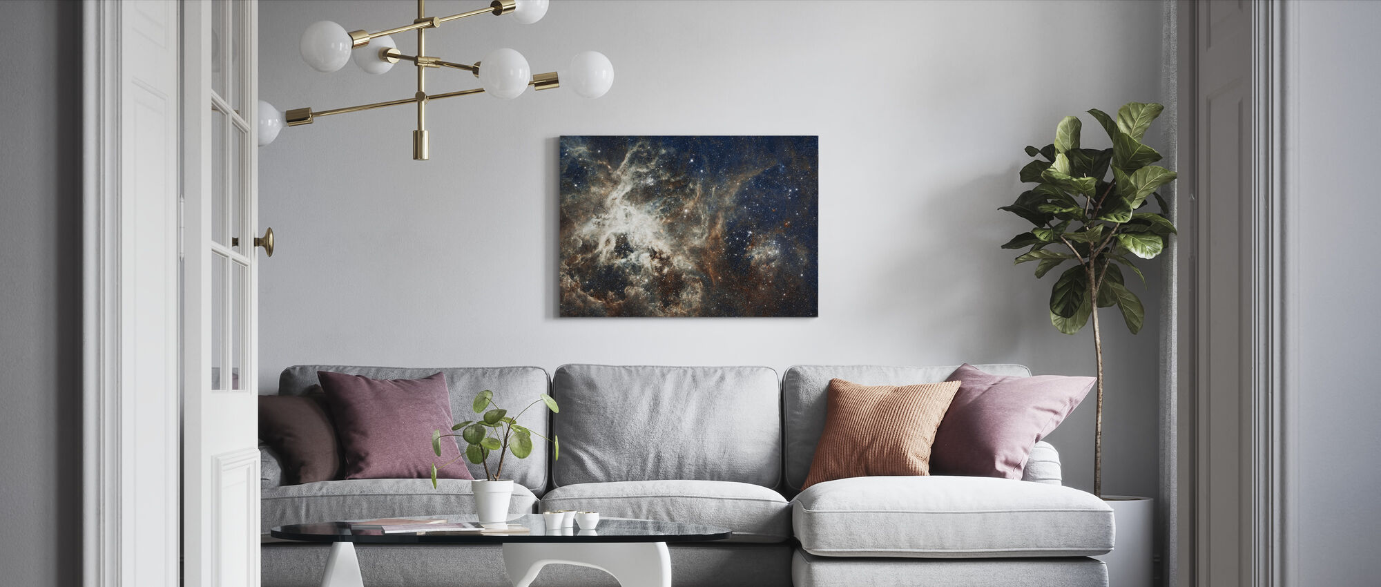 Galaxy - Canvas print - Living Room