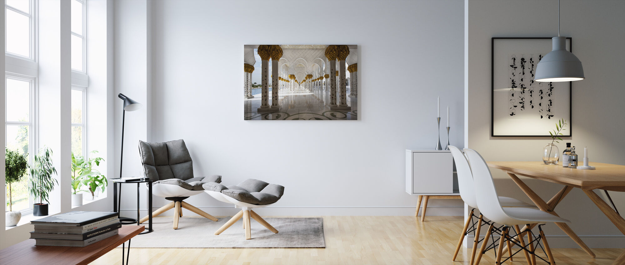 Abu Dhabi Mosque - Canvas print - Living Room