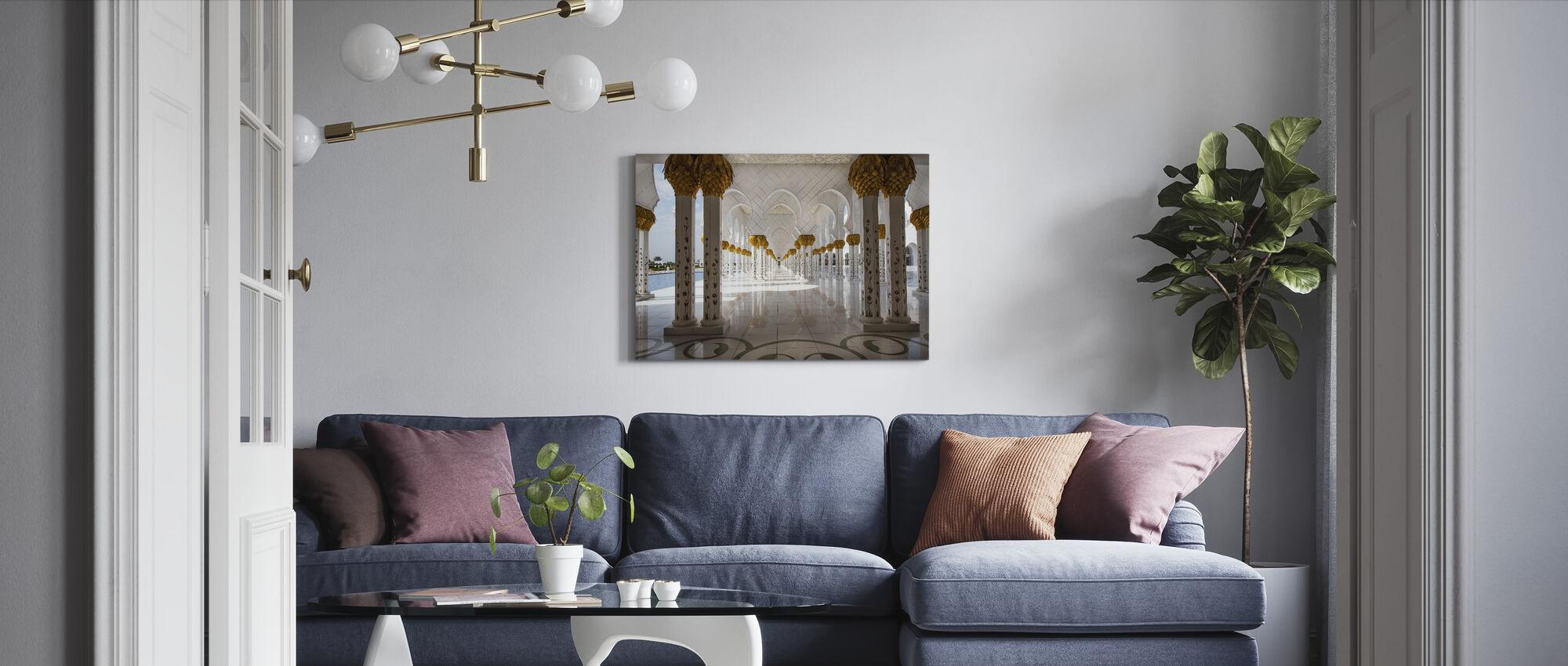 Abu Dhabi Mosque - Canvas print - Living Room