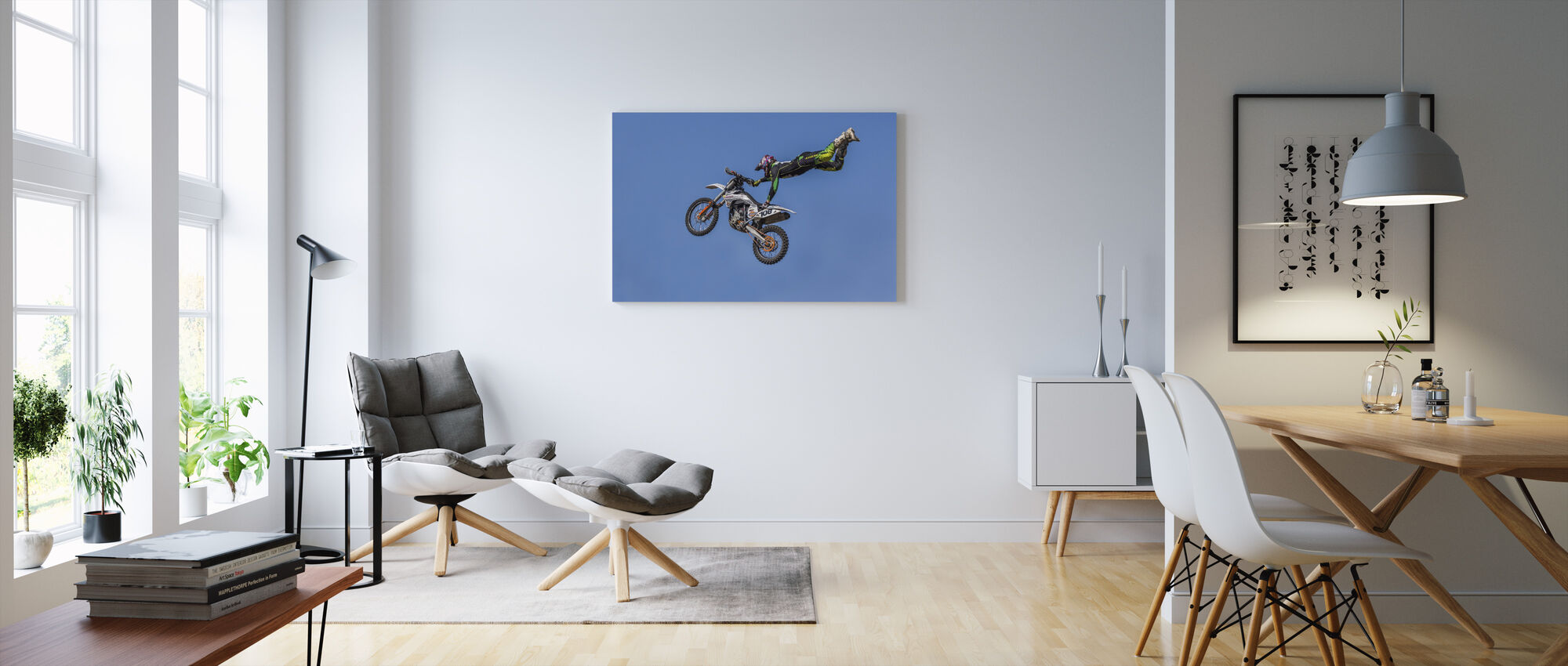 Extreme Motorcycle Sports - Canvas print - Living Room