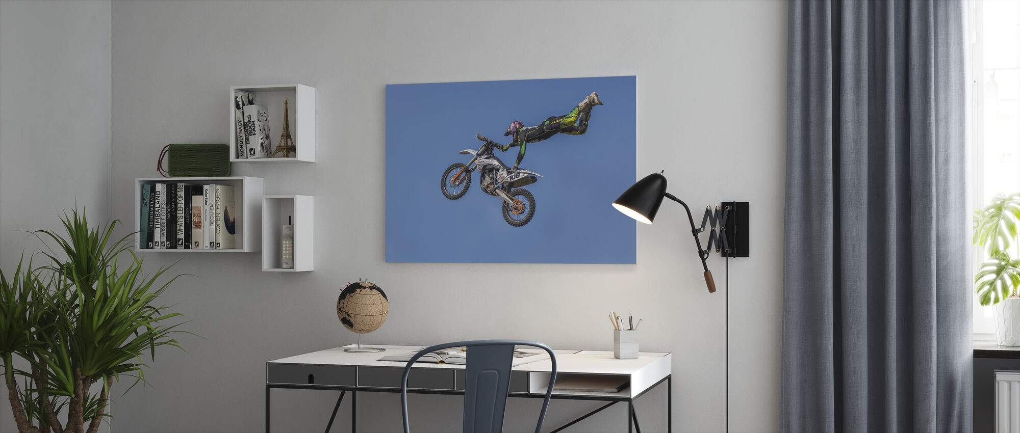 Extreme Motorcycle Sports - Canvas print - Office