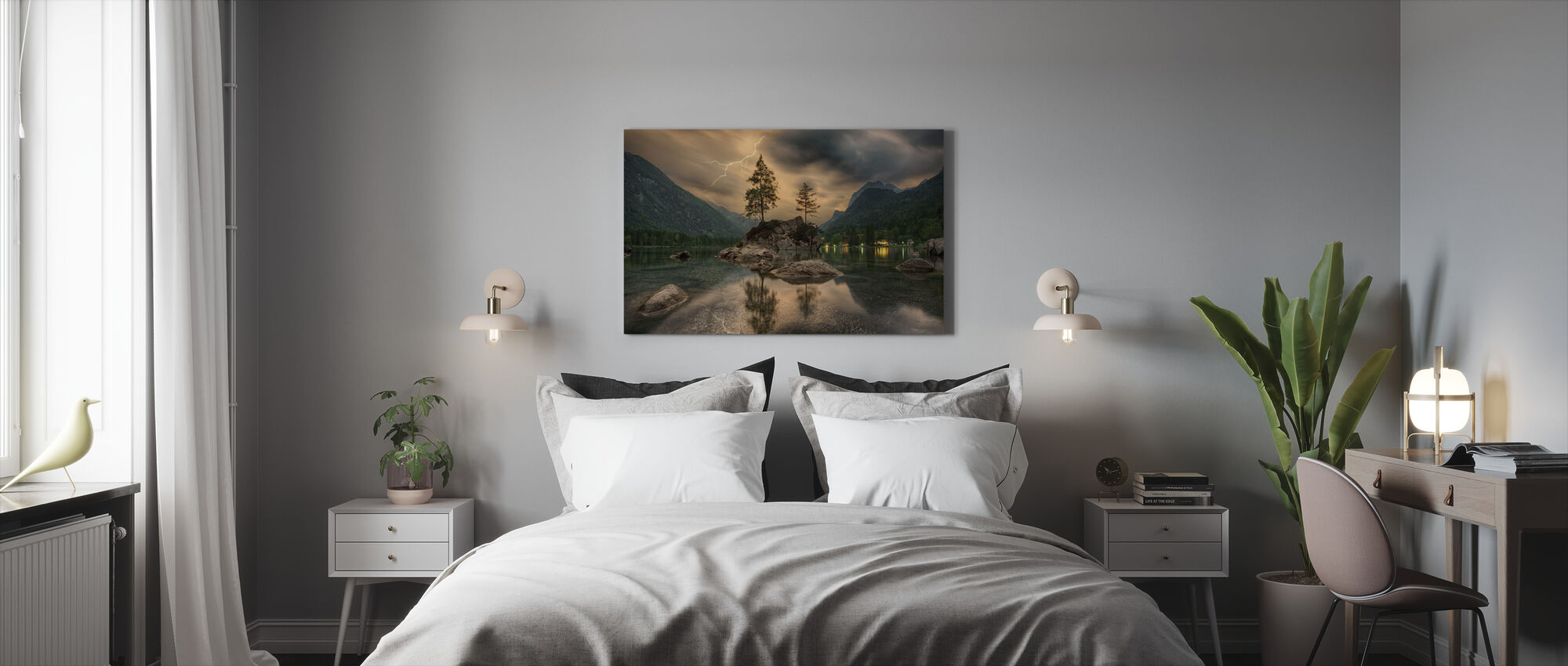 Lake Tree - Canvas print - Bedroom