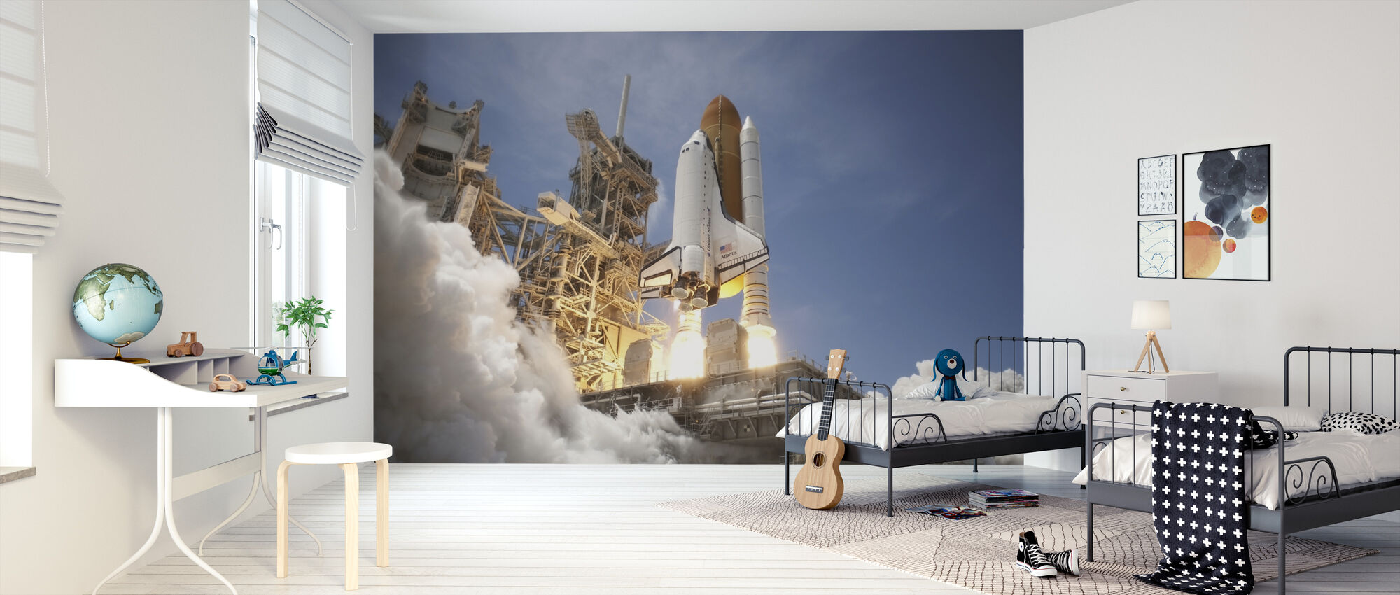 Space Shuttle - Wallpaper - Kids Room