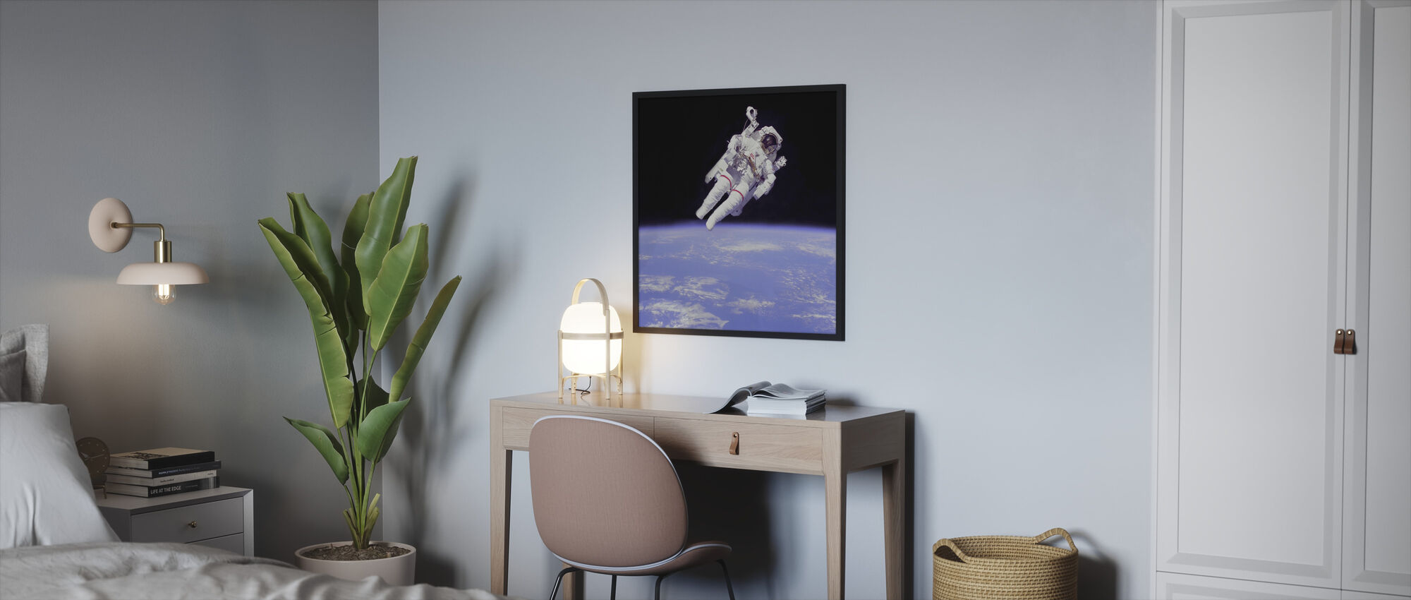 Astronautti - Kehystetty kuva - Makuuhuone