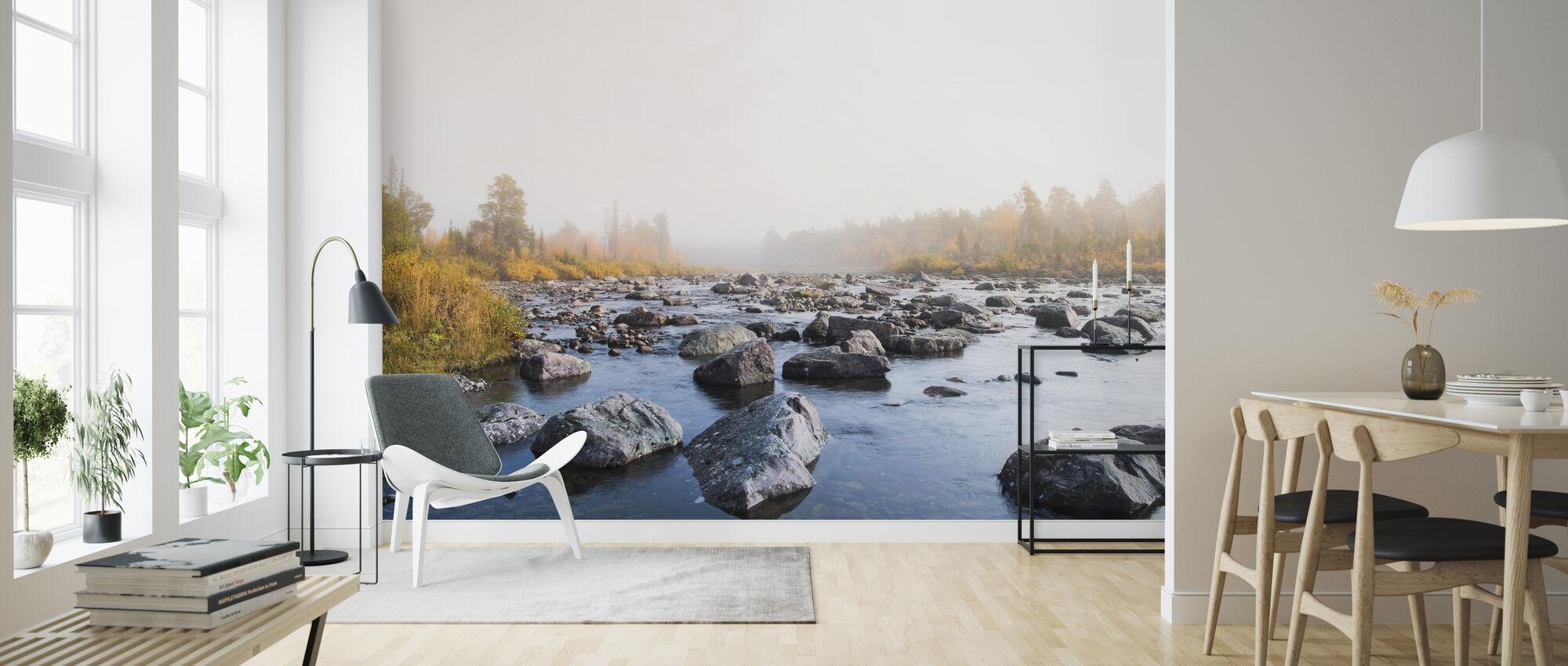 Herfst Rivier - Behang - Woonkamer