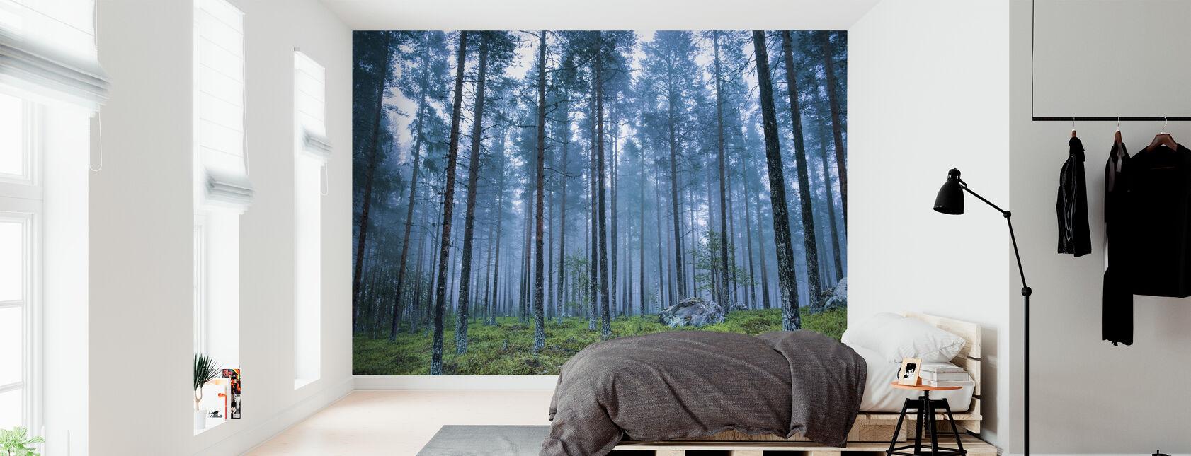 Blue Forest - Wallpaper - Bedroom