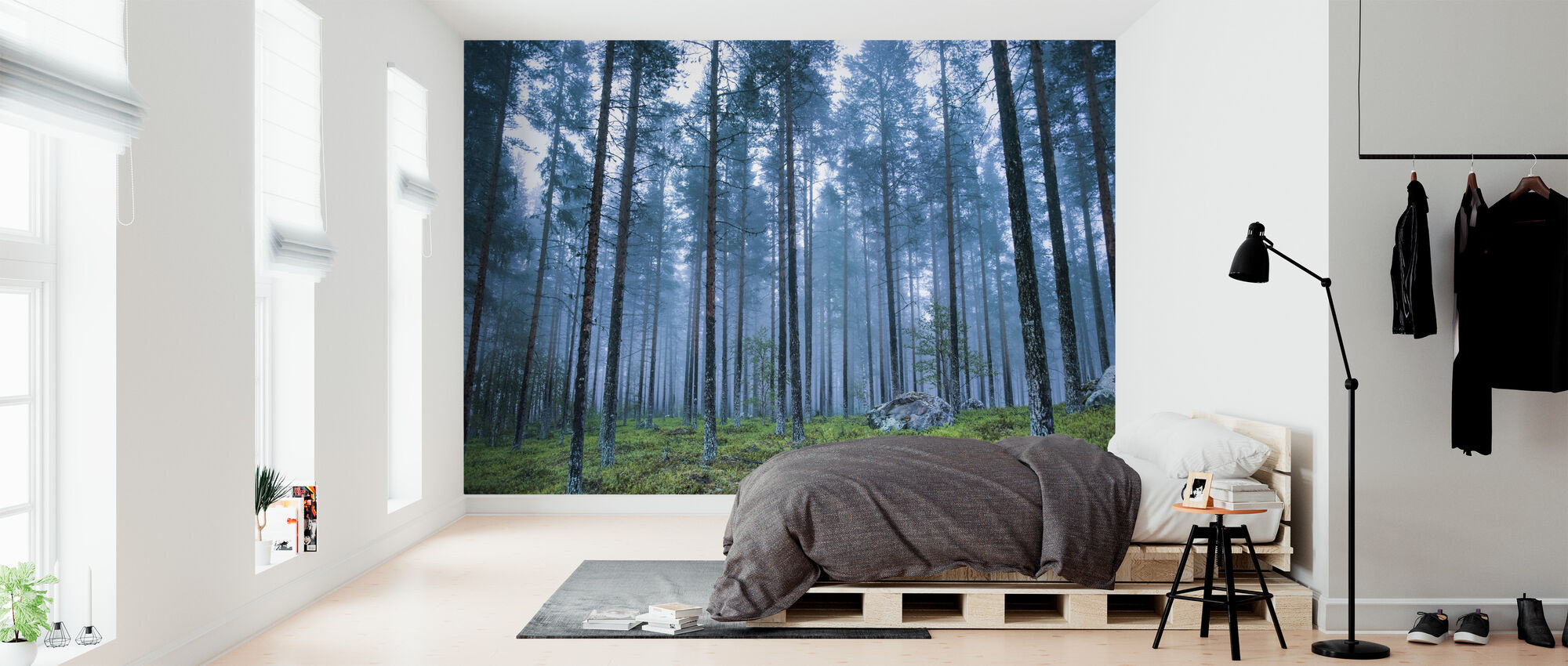 Blue Forest - Wallpaper - Bedroom