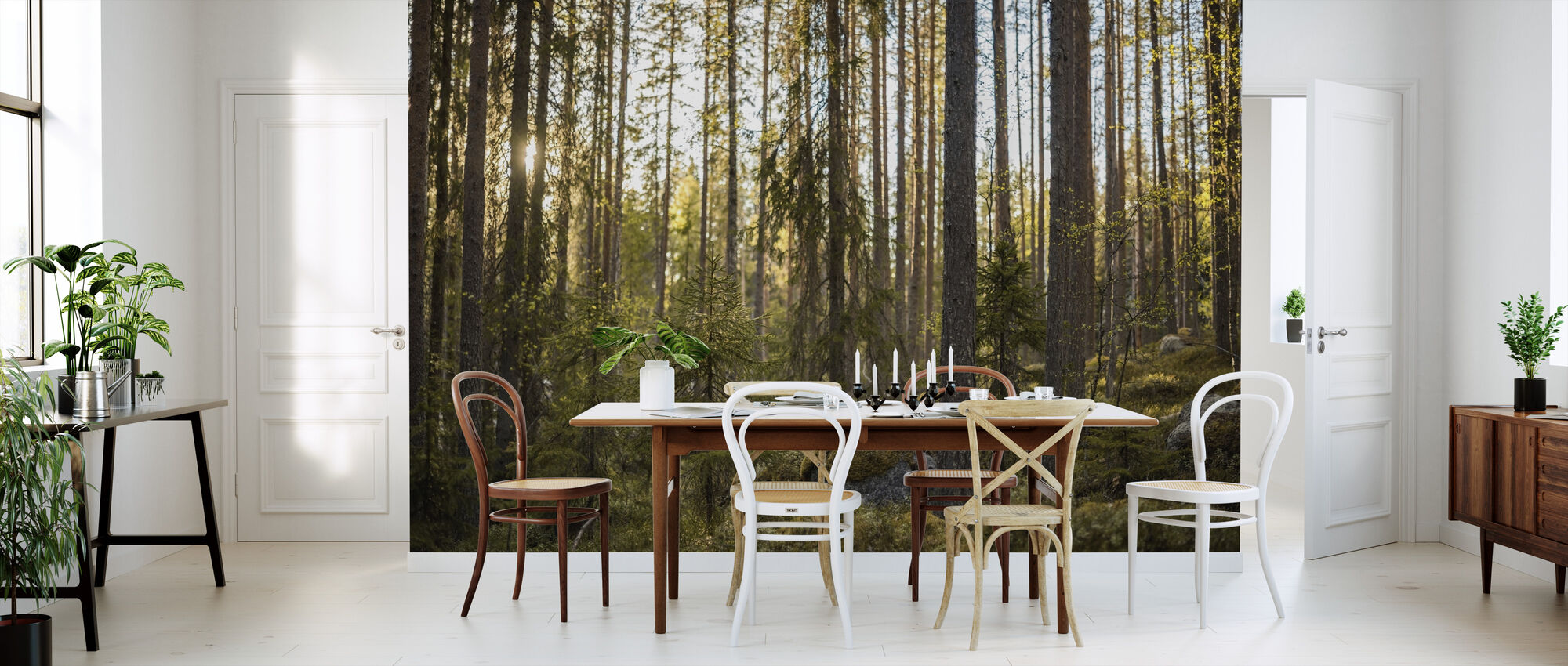 Het sprookjesbos - Behang - Keuken