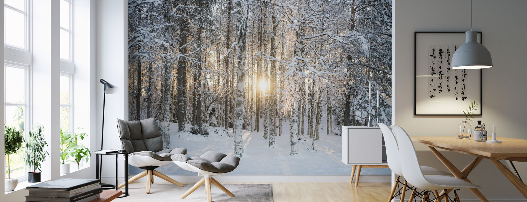 Winter Birches - Wallpaper - Living Room