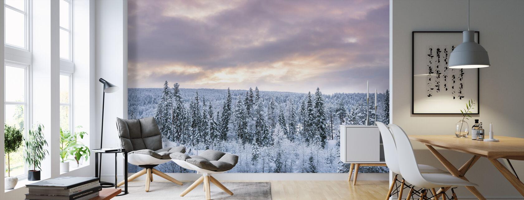 De winter komt eraan - Behang - Woonkamer