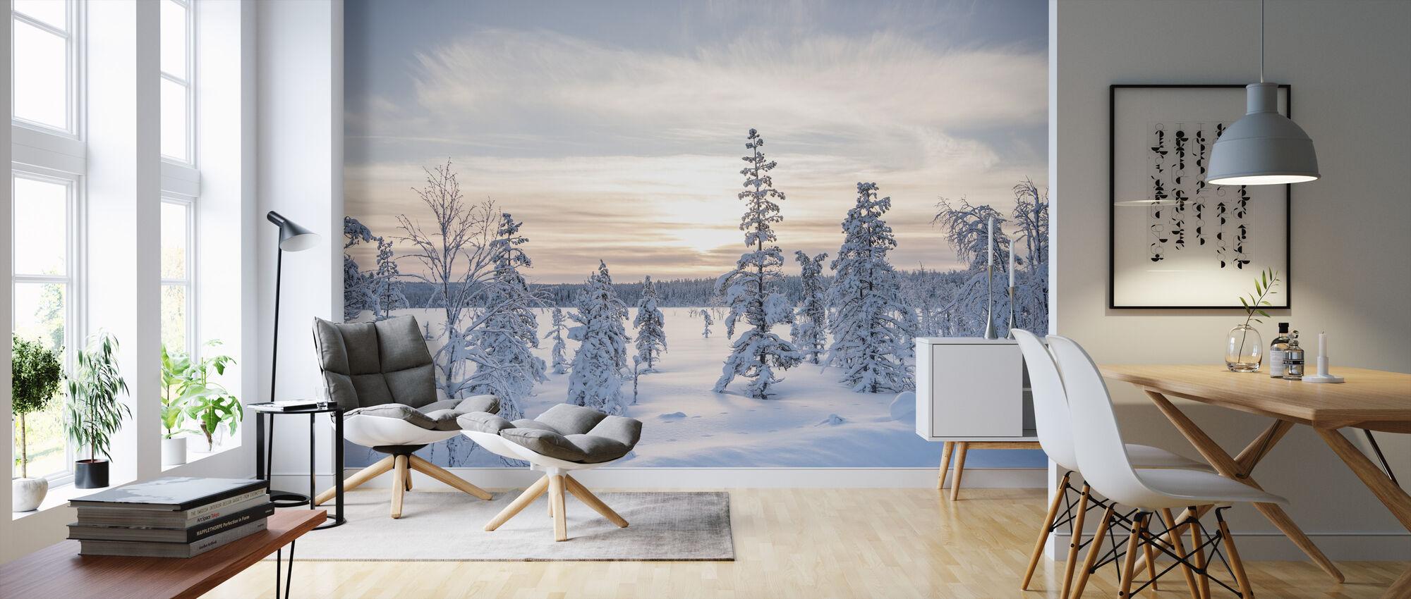 Winter Day - Wallpaper - Living Room