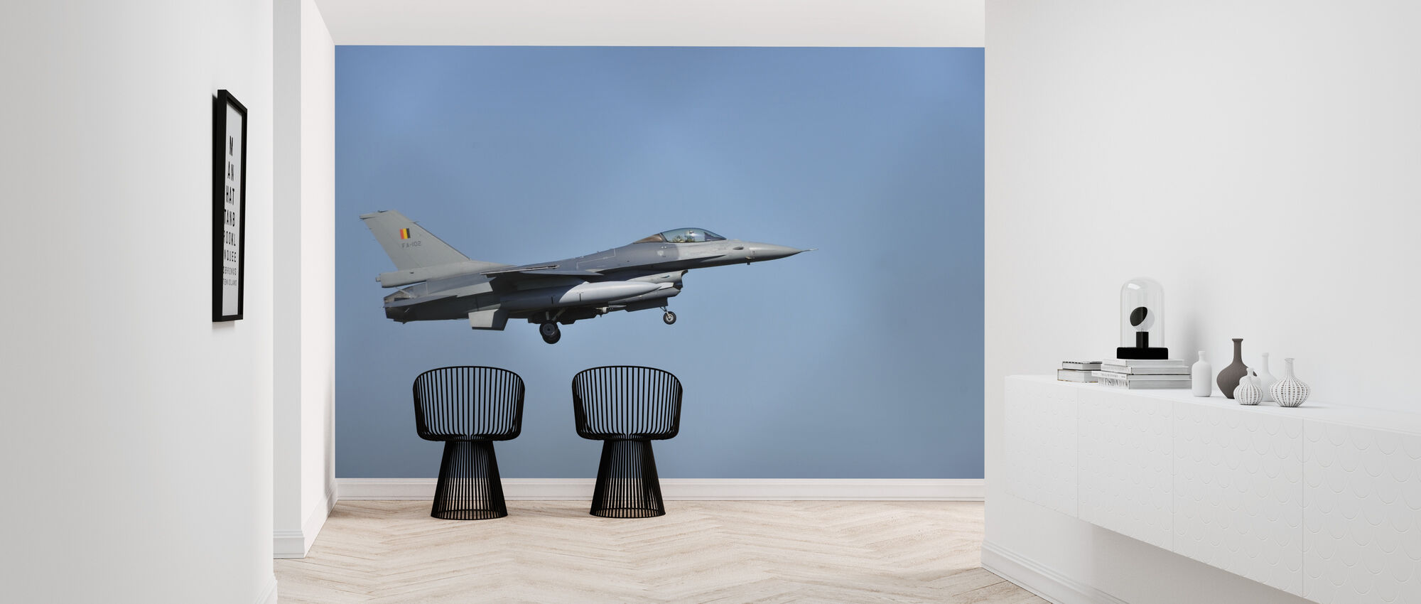 F16 Fighter Jet - Wallpaper - Hallway