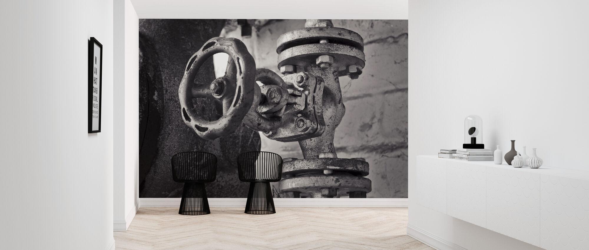 Valve and Pipeline - Wallpaper - Hallway