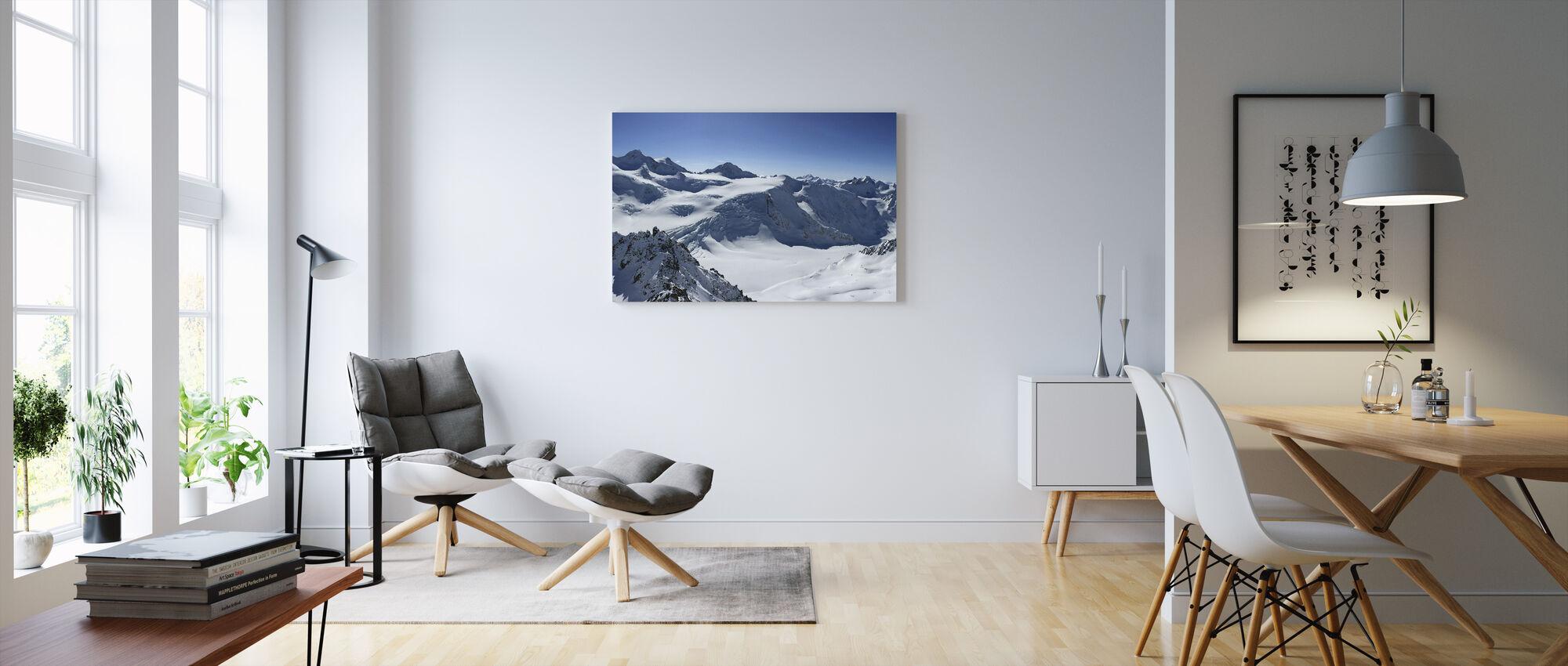 Vuoristo-huippukokous - Canvastaulu - Olohuone