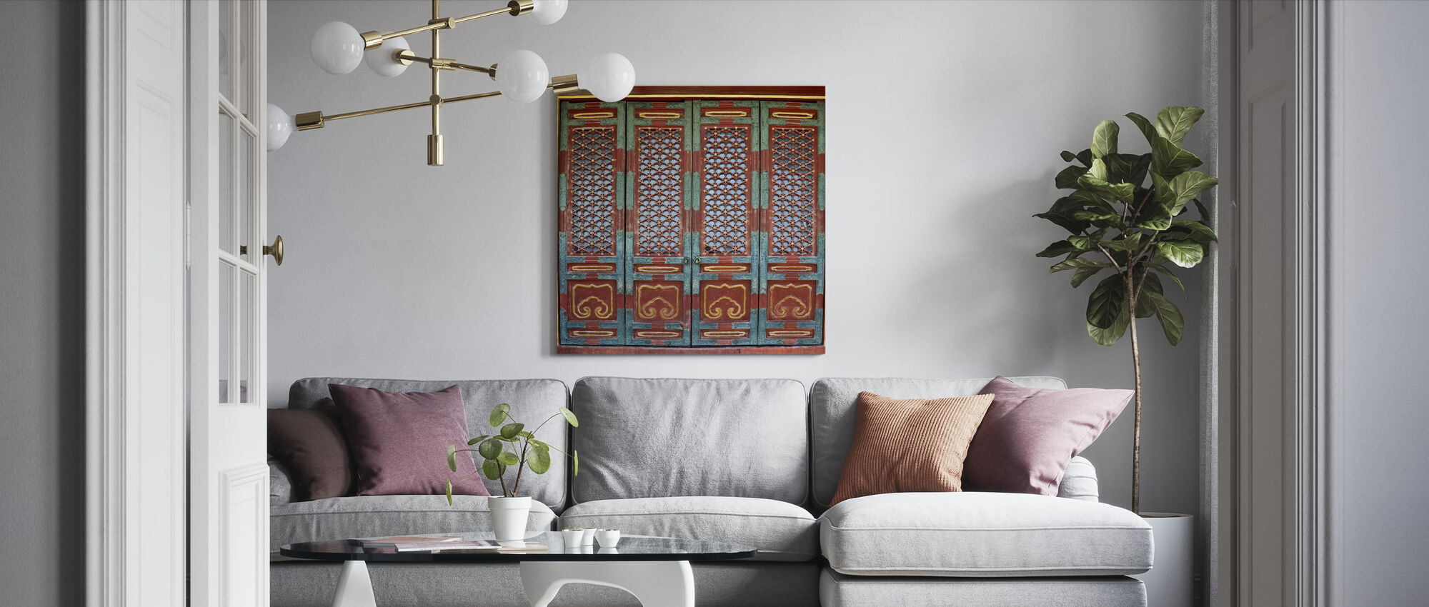 Ornament Door - Canvas print - Living Room