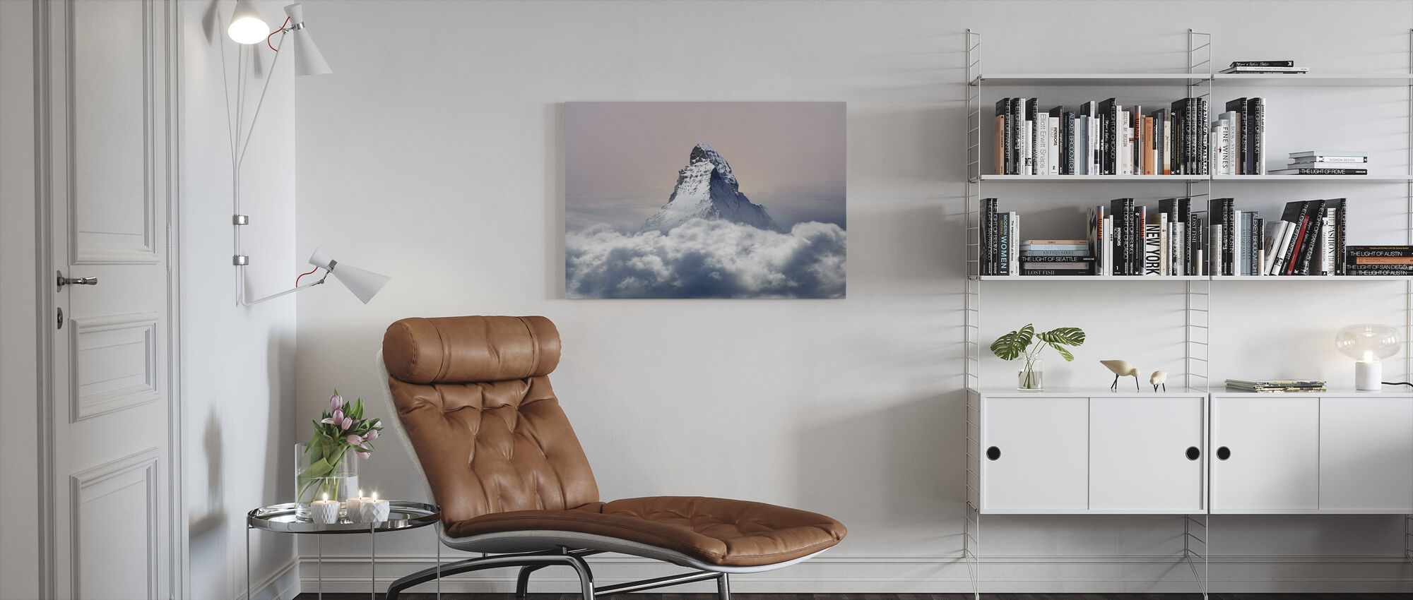 Cloudy Summit - Canvas print - Living Room