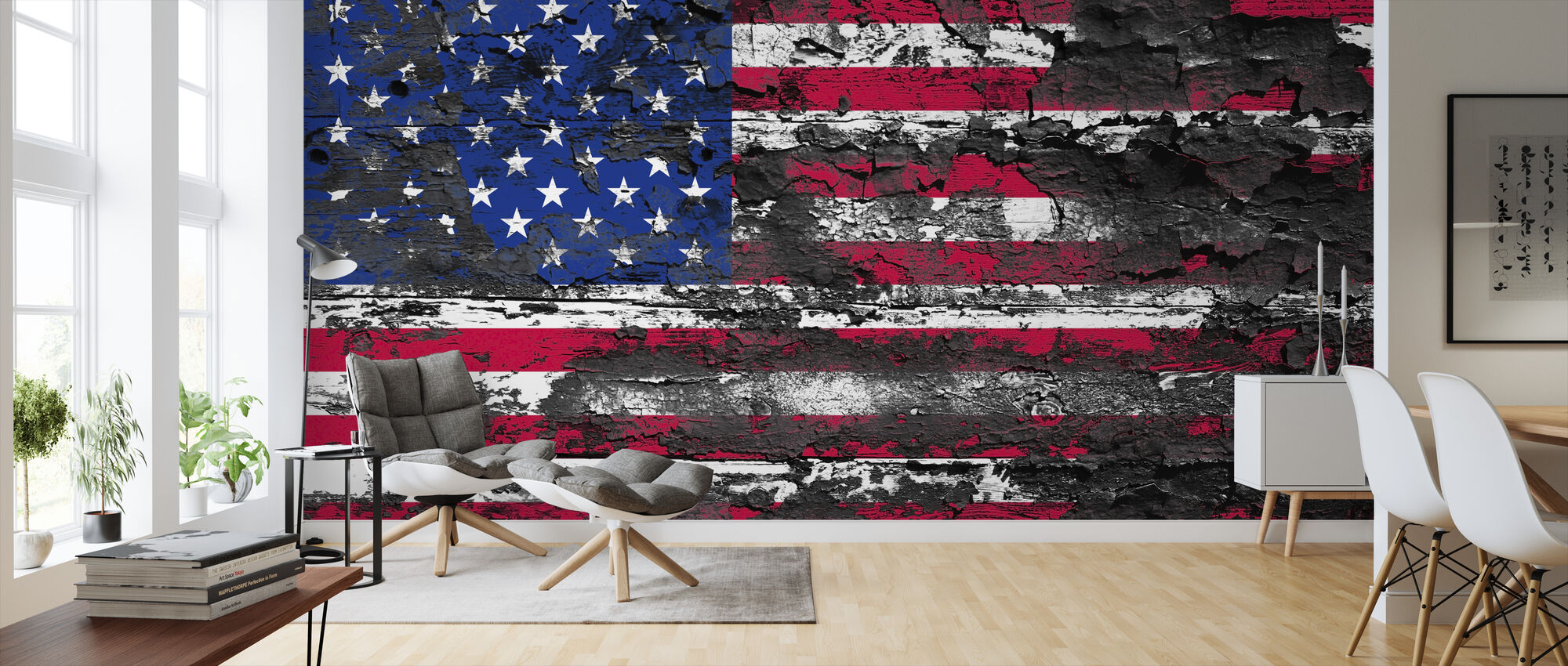 American Flag - Wallpaper - Living Room