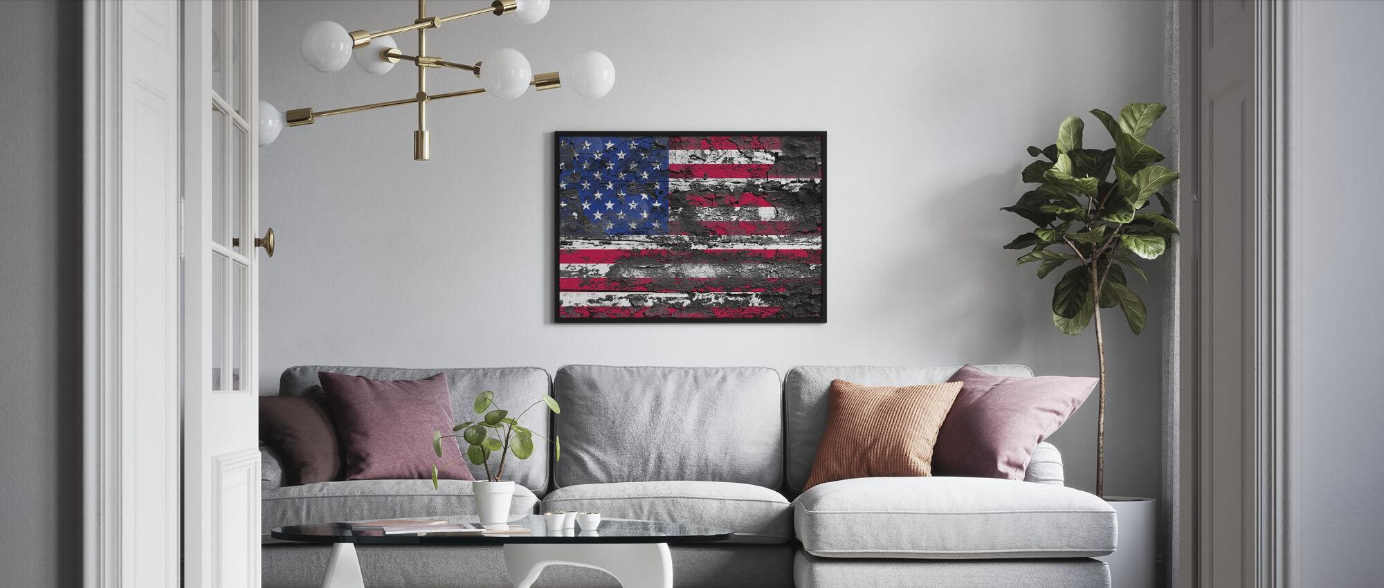 Amerikansk flagg - Innrammet bilde - Stue