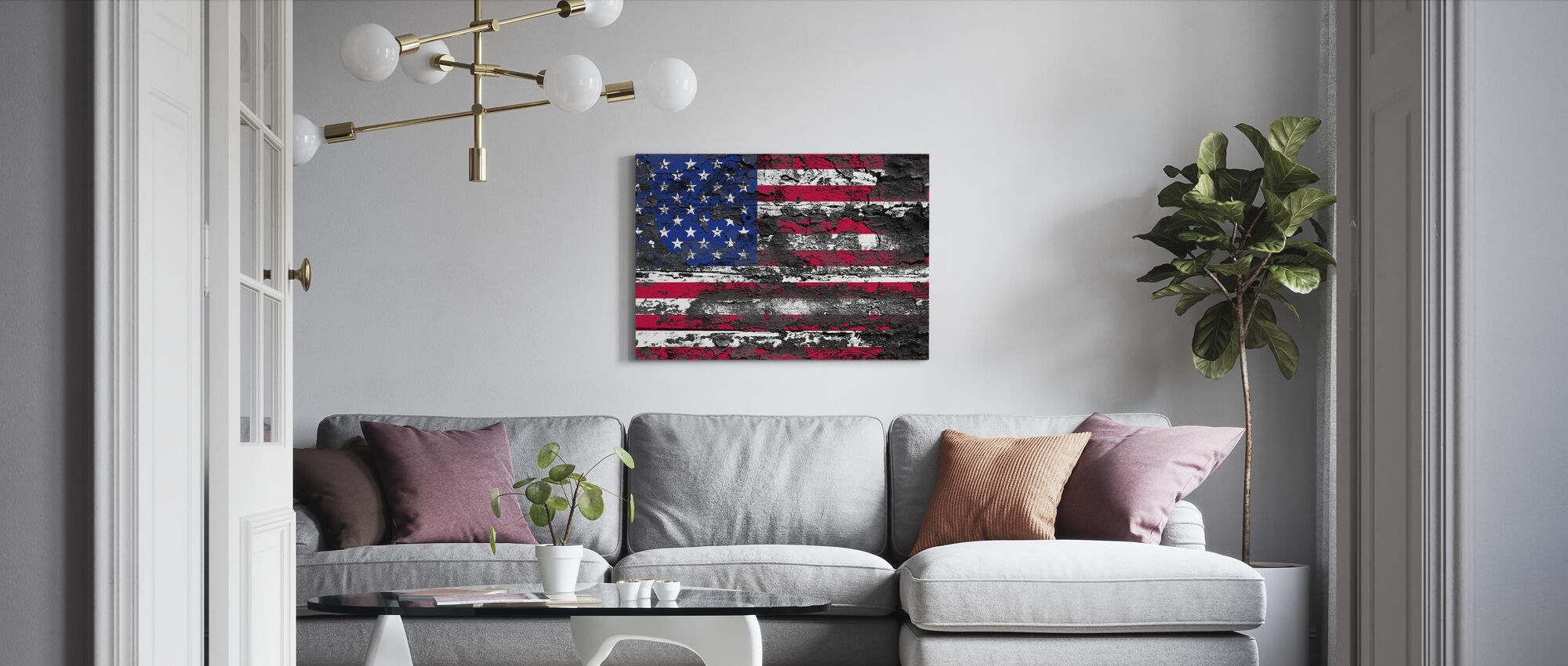 American Flag - Canvas print - Living Room