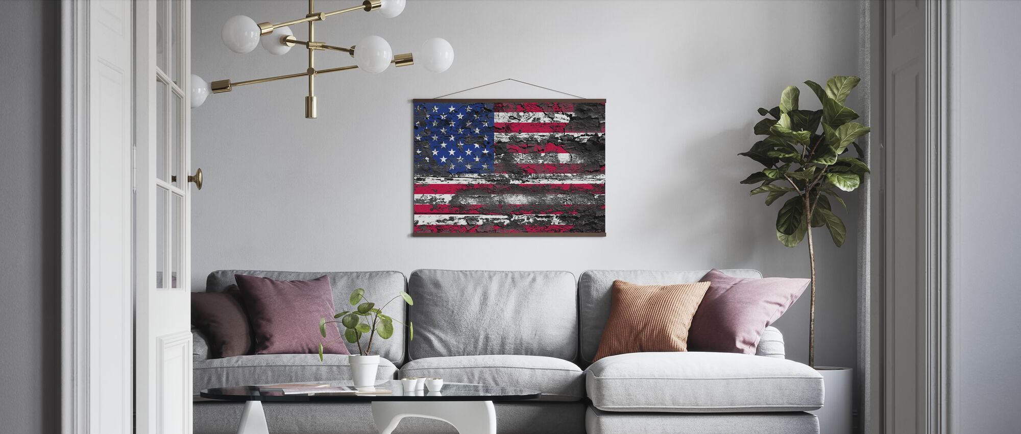 American Flag - Poster - Living Room