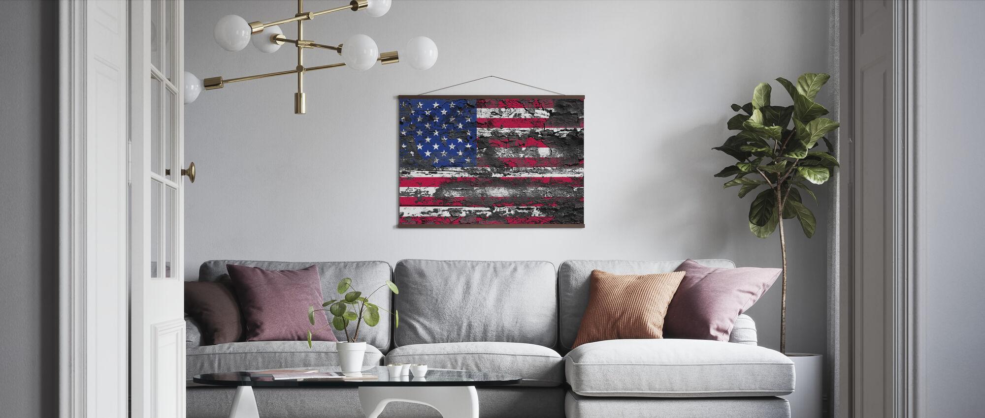 Amerikaanse vlag - Poster - Woonkamer