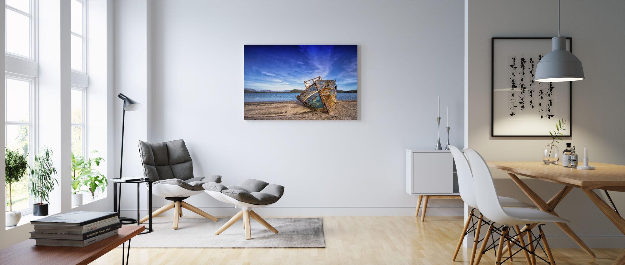 Altes Boot - Leinwandbild - Wohnzimmer