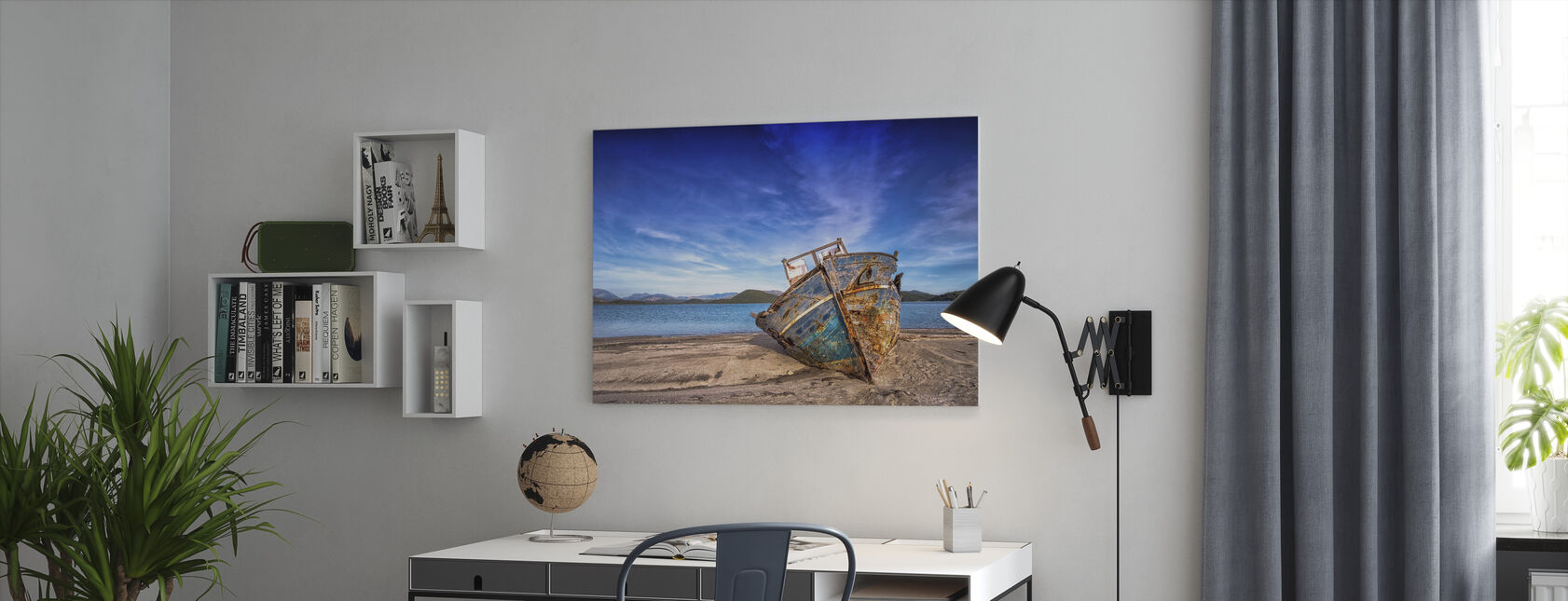 Oude Boot - Canvas print - Kantoor