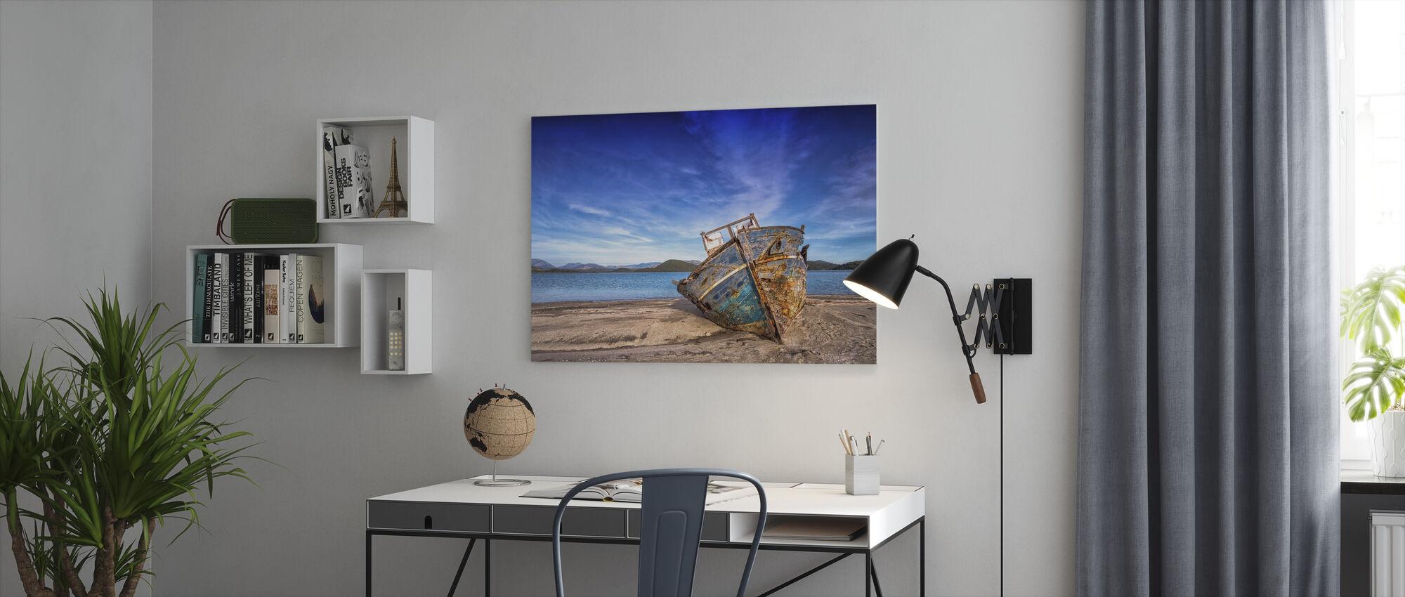 Altes Boot - Leinwandbild - Büro