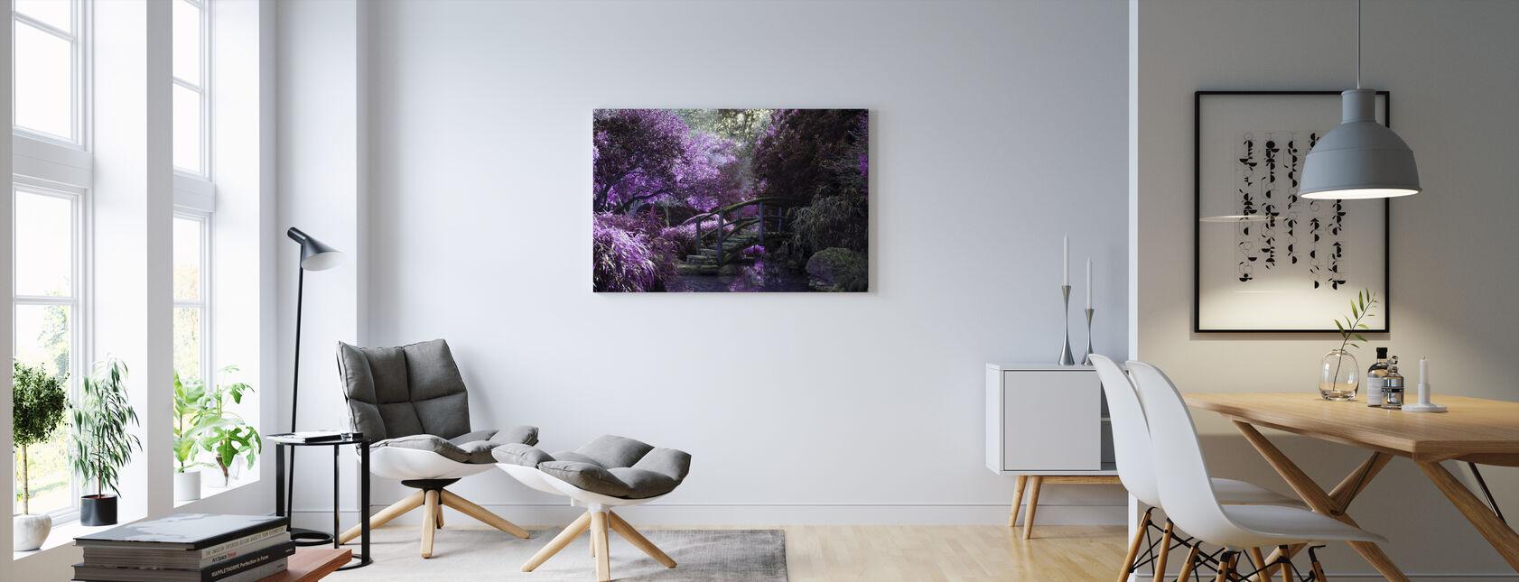 Wooden Bridge Park - Canvas print - Living Room