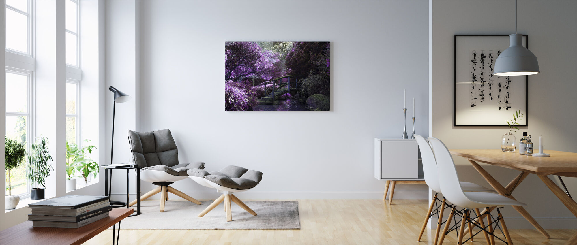 Wooden Bridge Park - Canvas print - Living Room
