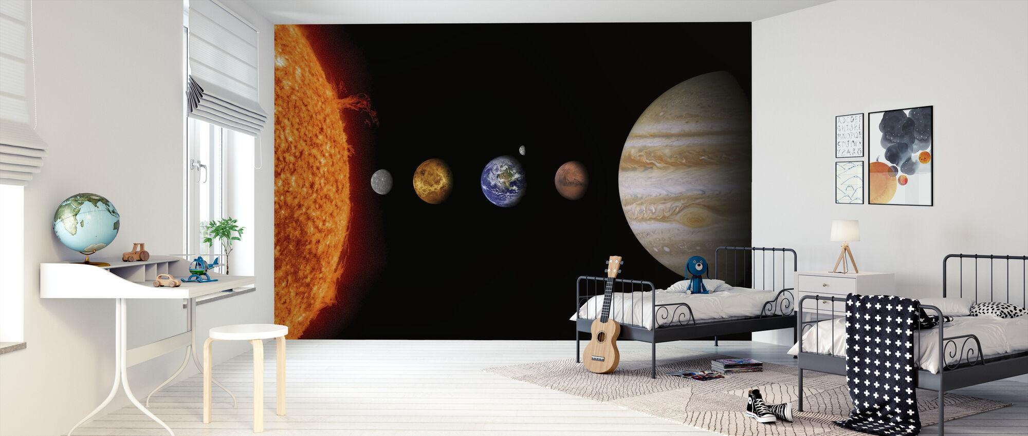 Aurinkokunta - Tapetti - Lastenhuone