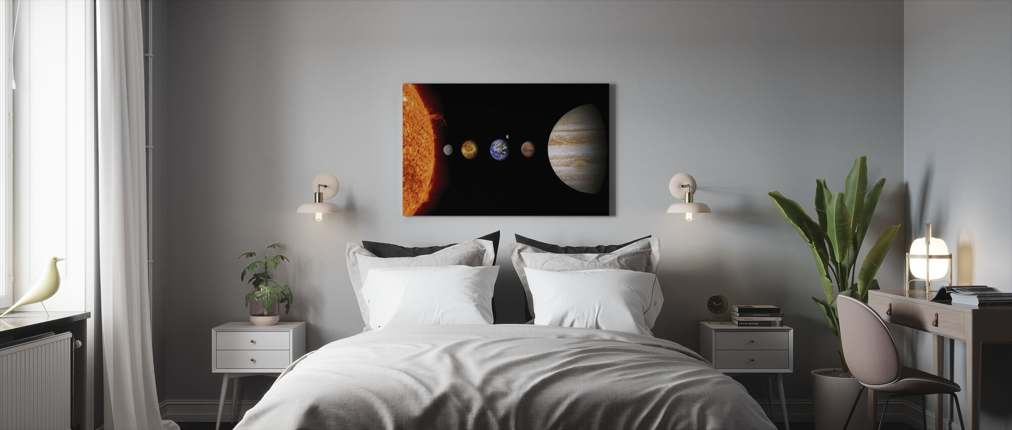 The Solar System - Canvas print - Bedroom