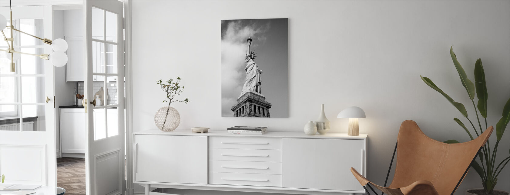 Vintage Statue of Liberty - Canvas print - Living Room