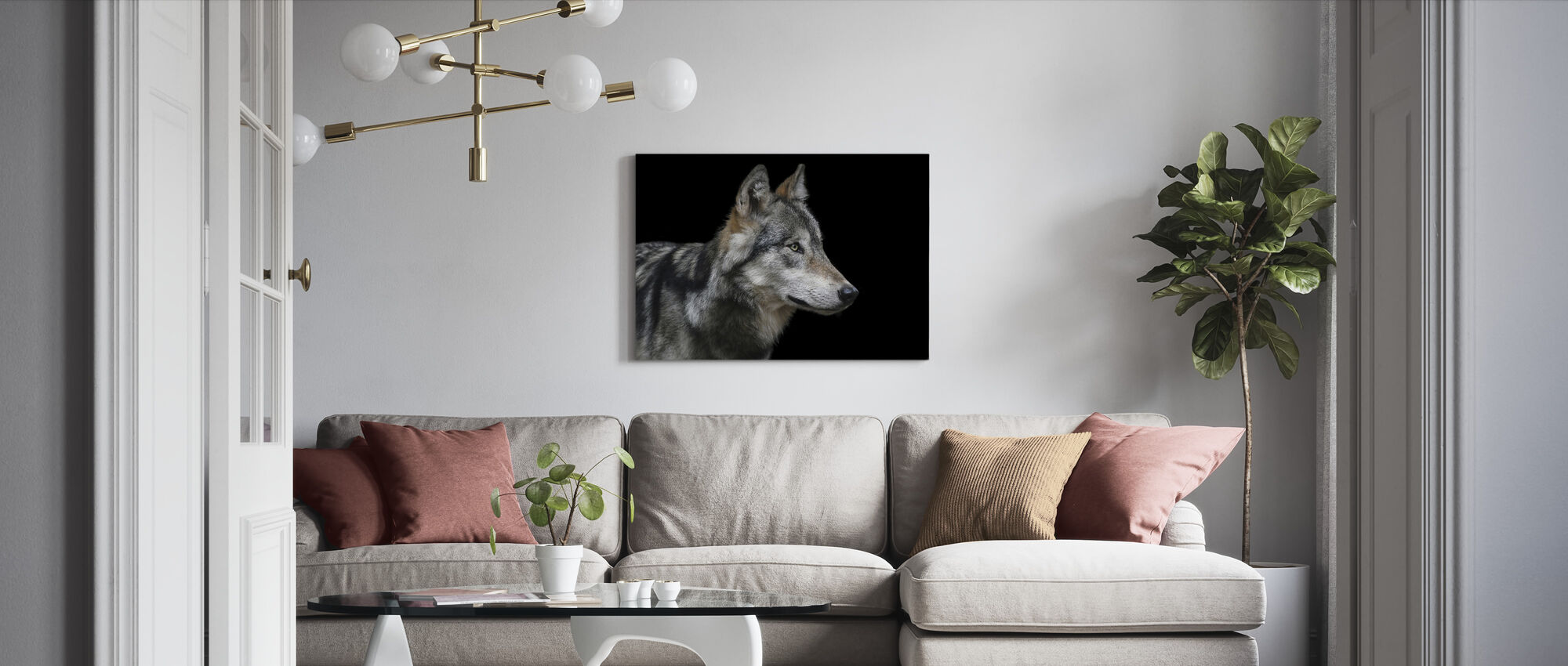 Wolf - Canvas print - Living Room