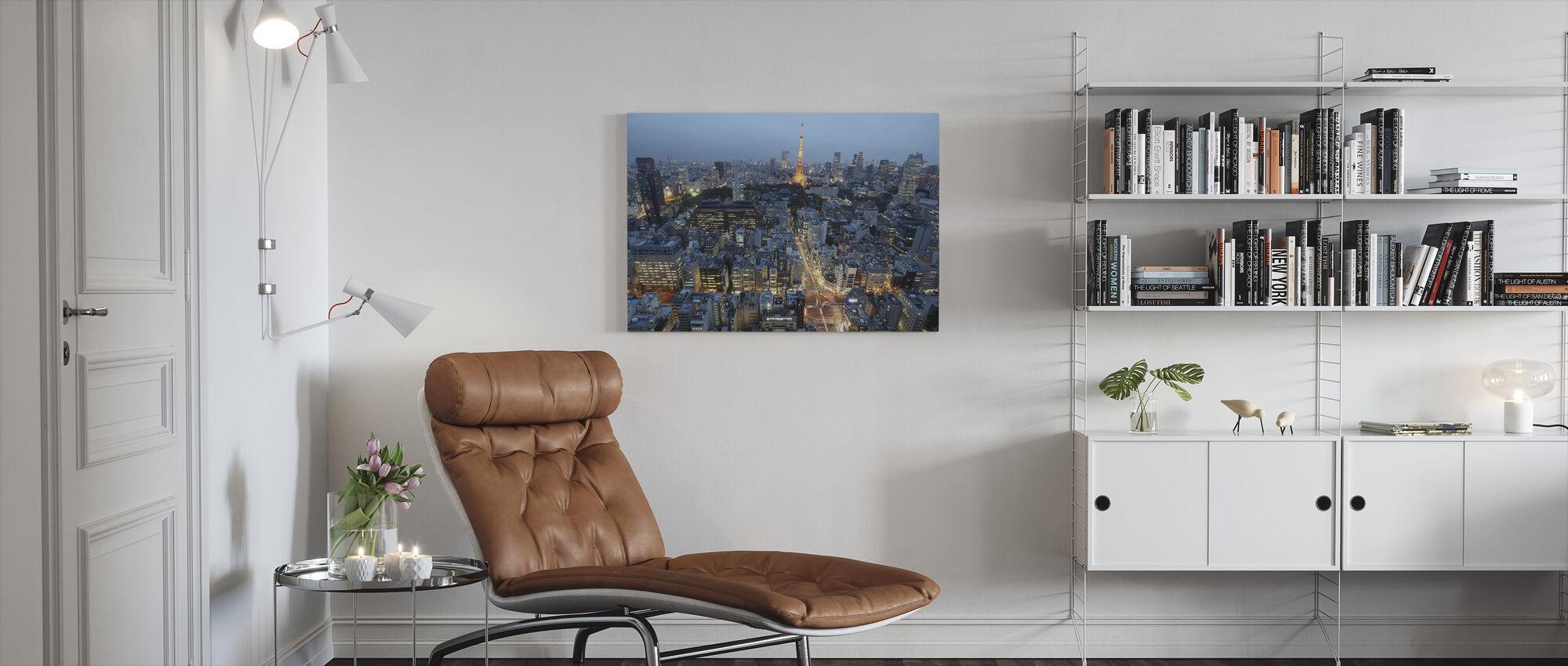Stadtzentrum von Paris - Leinwandbild - Wohnzimmer
