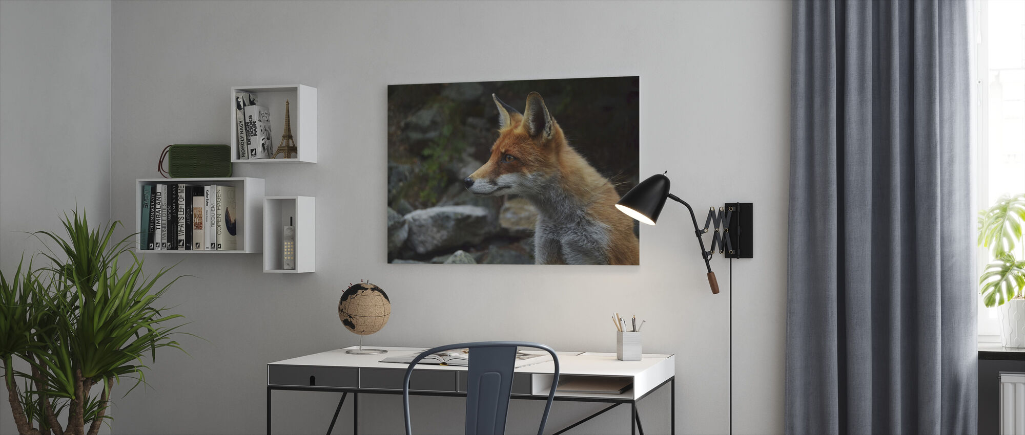 Fox - Canvas print - Office